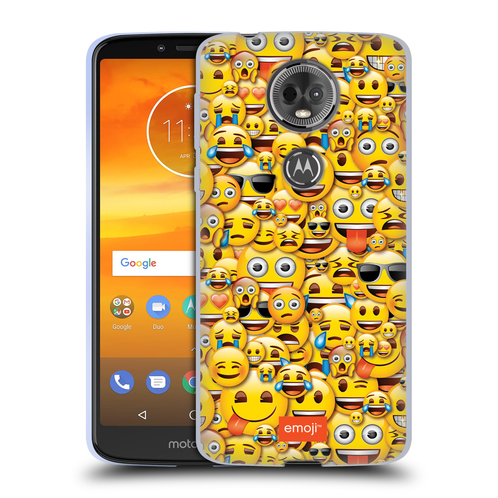 Silikonové pouzdro na mobil Motorola Moto E5 Plus - Head Case - EMOJI - Mnoho malých smajlíků