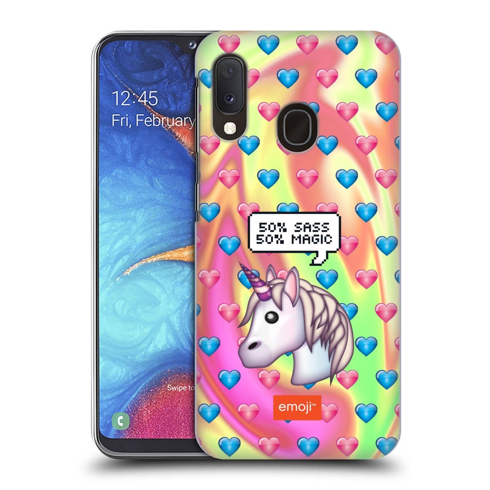Plastové pouzdro na mobil Samsung Galaxy A20e - Head Case - EMOJI - Jednorožec