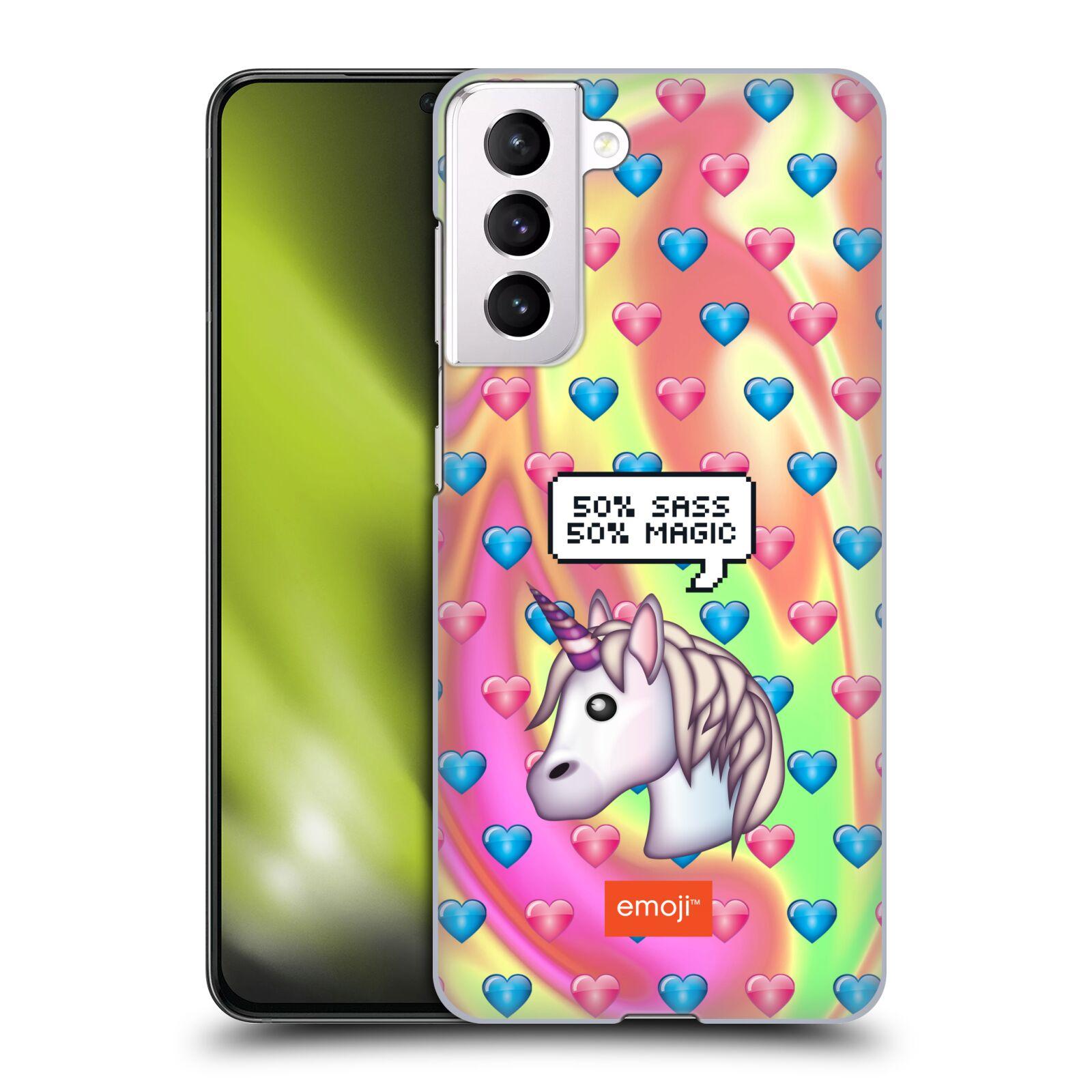 Plastové pouzdro na mobil Samsung Galaxy S21 5G - Head Case - EMOJI - Jednorožec