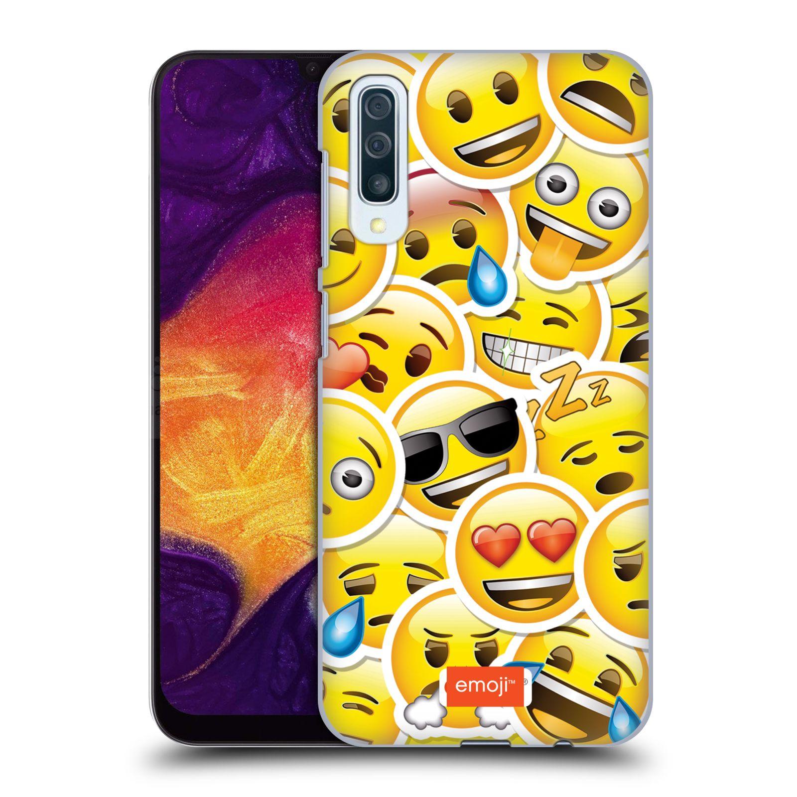 Plastové pouzdro na mobil Samsung Galaxy A50 / A30s - Head Case - EMOJI - Velcí smajlíci ZZ
