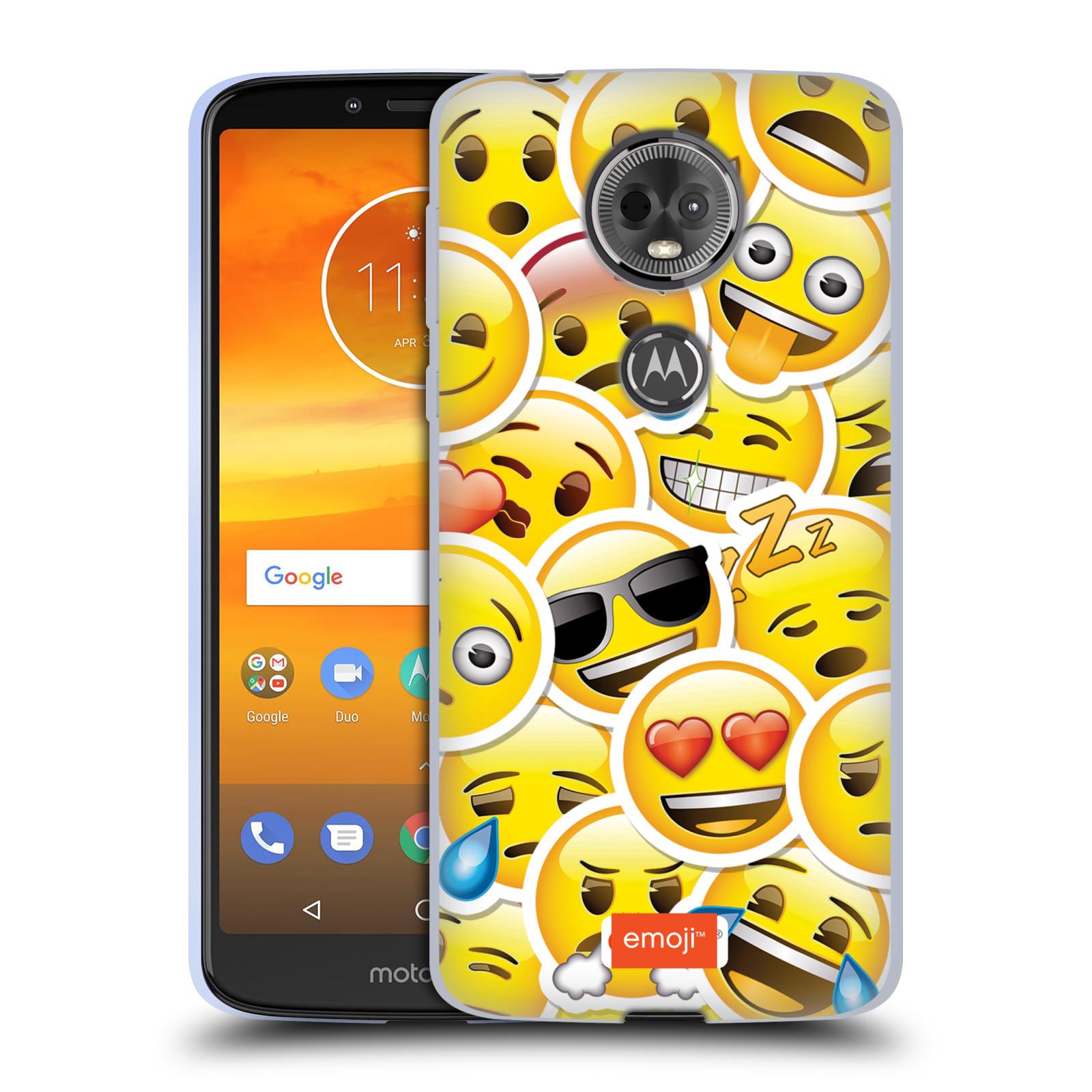 Silikonové pouzdro na mobil Motorola Moto E5 Plus - Head Case - EMOJI - Velcí smajlíci ZZ