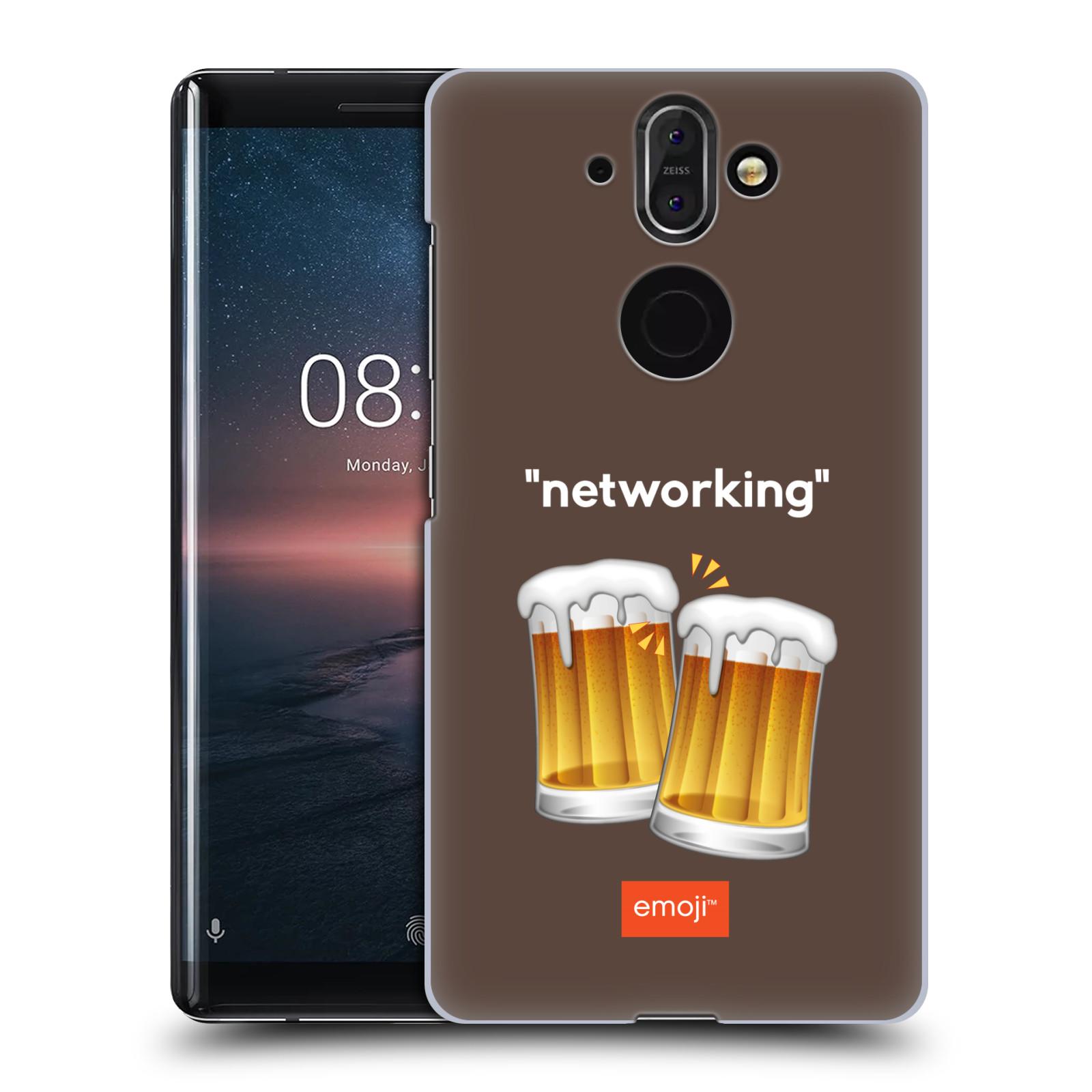 Plastové pouzdro na mobil Nokia 8 Sirocco - Head Case - EMOJI - Pivní networking