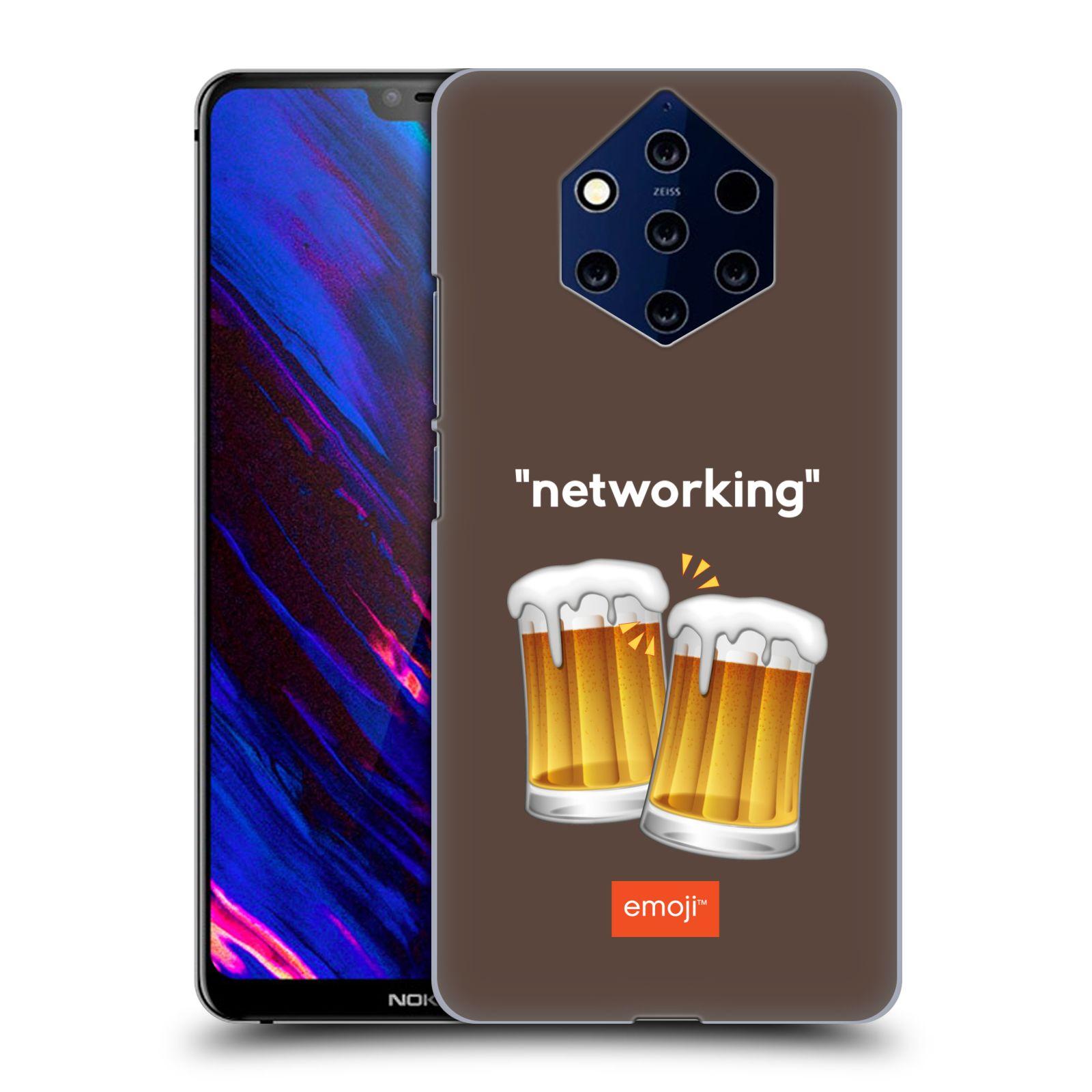 Plastové pouzdro na mobil Nokia 9 PureView - Head Case - EMOJI - Pivní networking