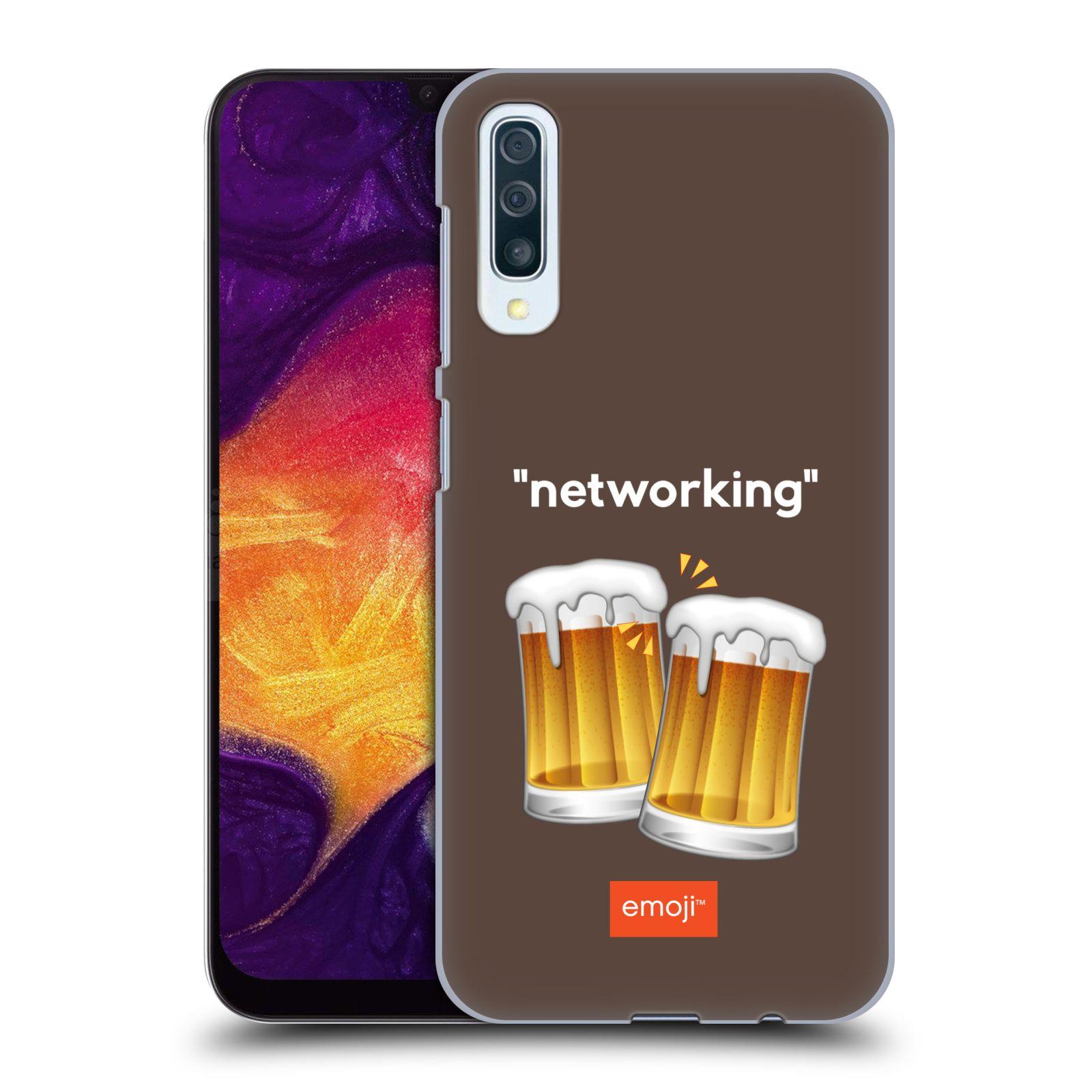 Plastové pouzdro na mobil Samsung Galaxy A50 / A30s - Head Case - EMOJI - Pivní networking