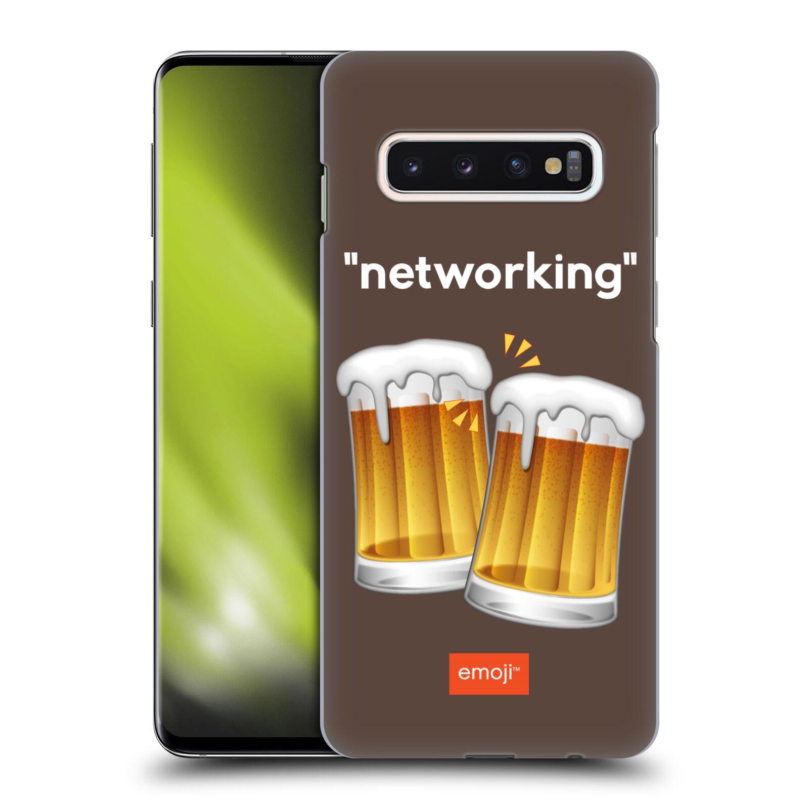 Plastové pouzdro na mobil Samsung Galaxy S10 - Head Case - EMOJI - Pivní networking