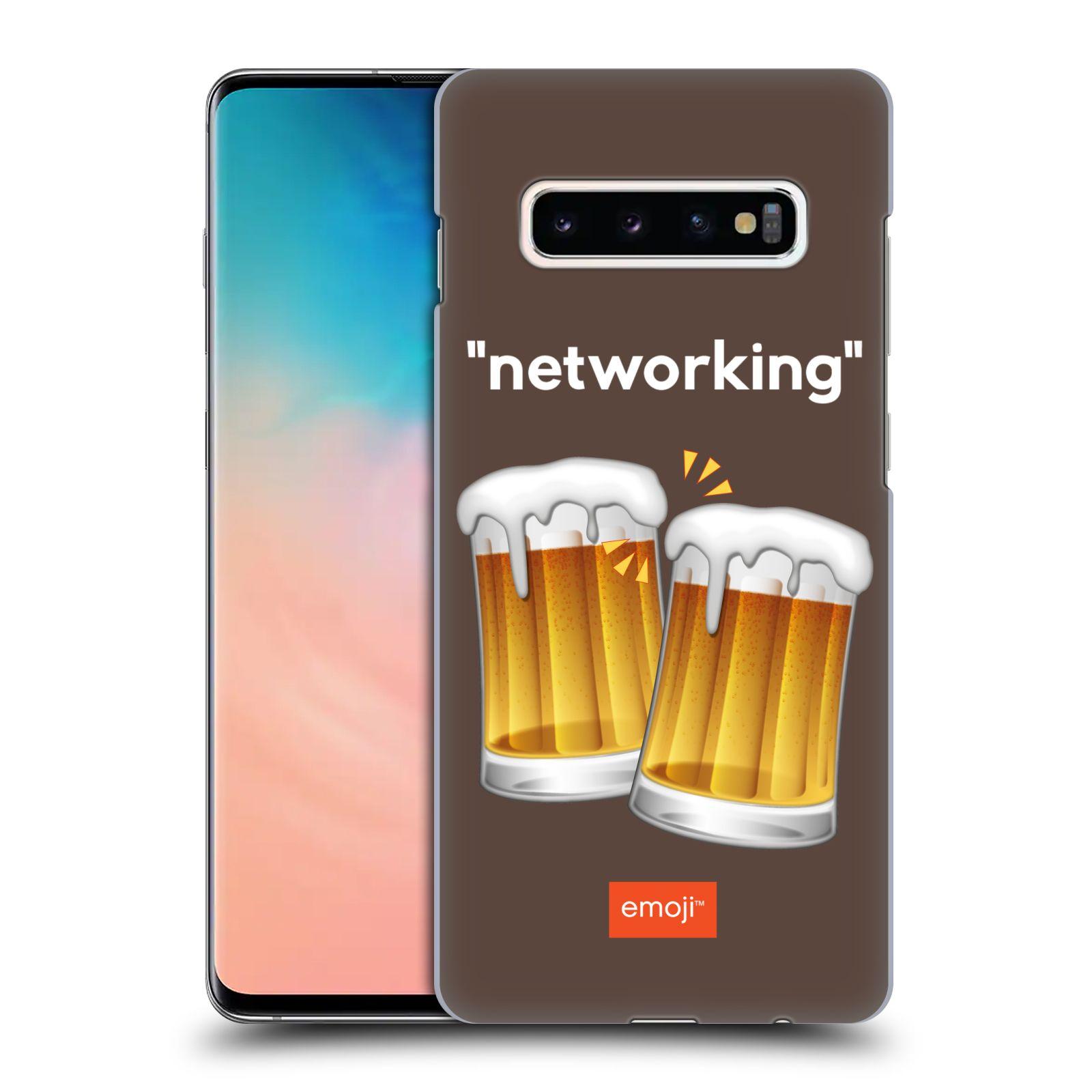 Plastové pouzdro na mobil Samsung Galaxy S10 Plus - Head Case - EMOJI - Pivní networking