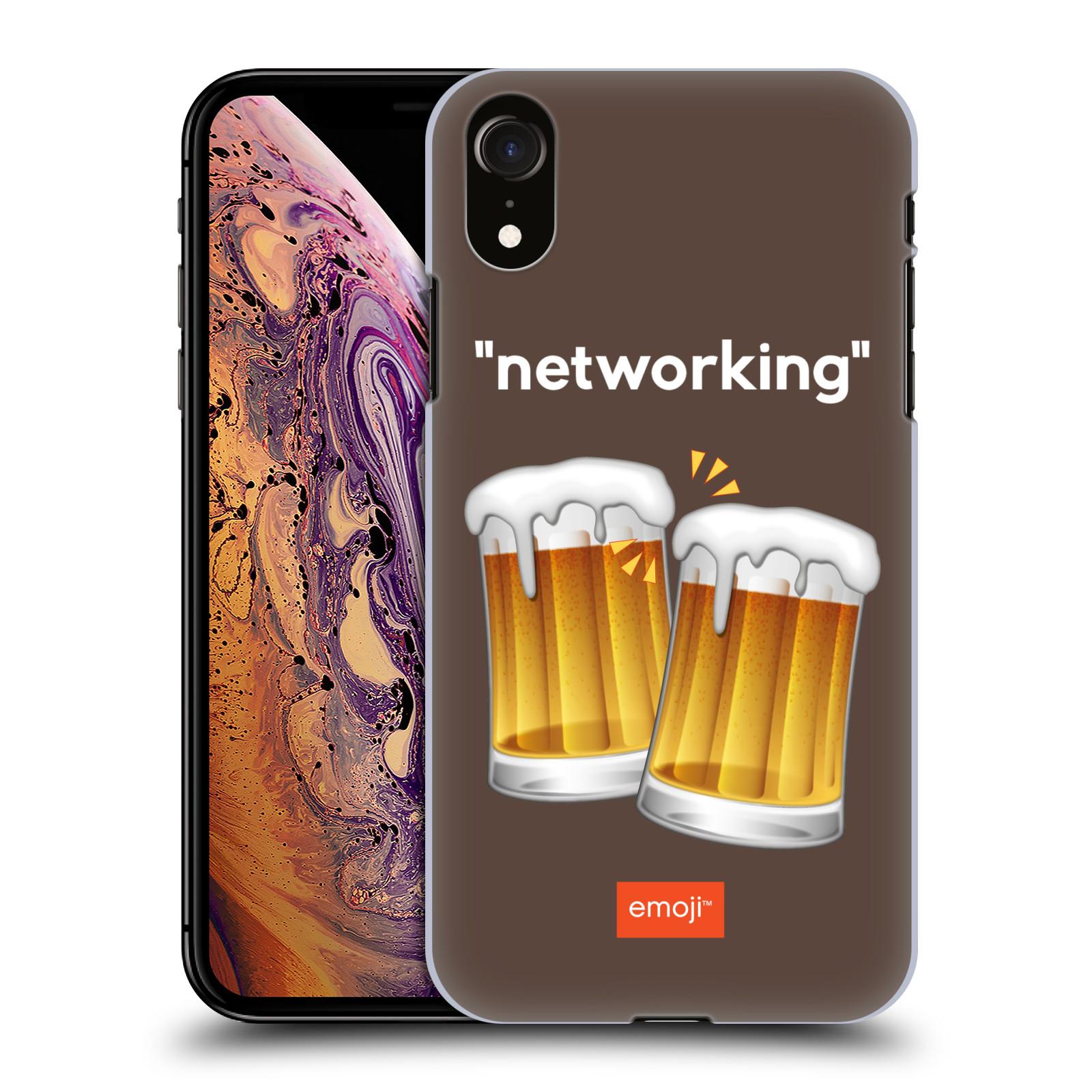 Plastové pouzdro na mobil Apple iPhone XR - Head Case - EMOJI - Pivní networking