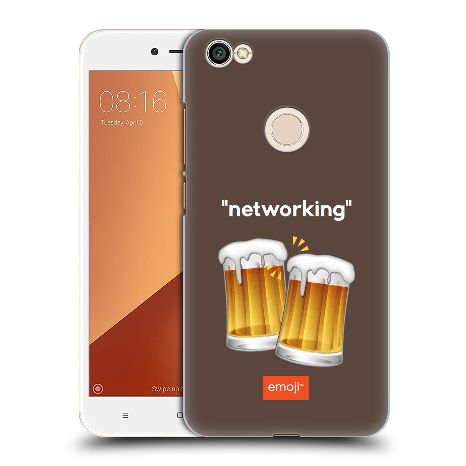 Plastové pouzdro na mobil Xiaomi Redmi Note 5A Head Case EMOJI Pivn networking