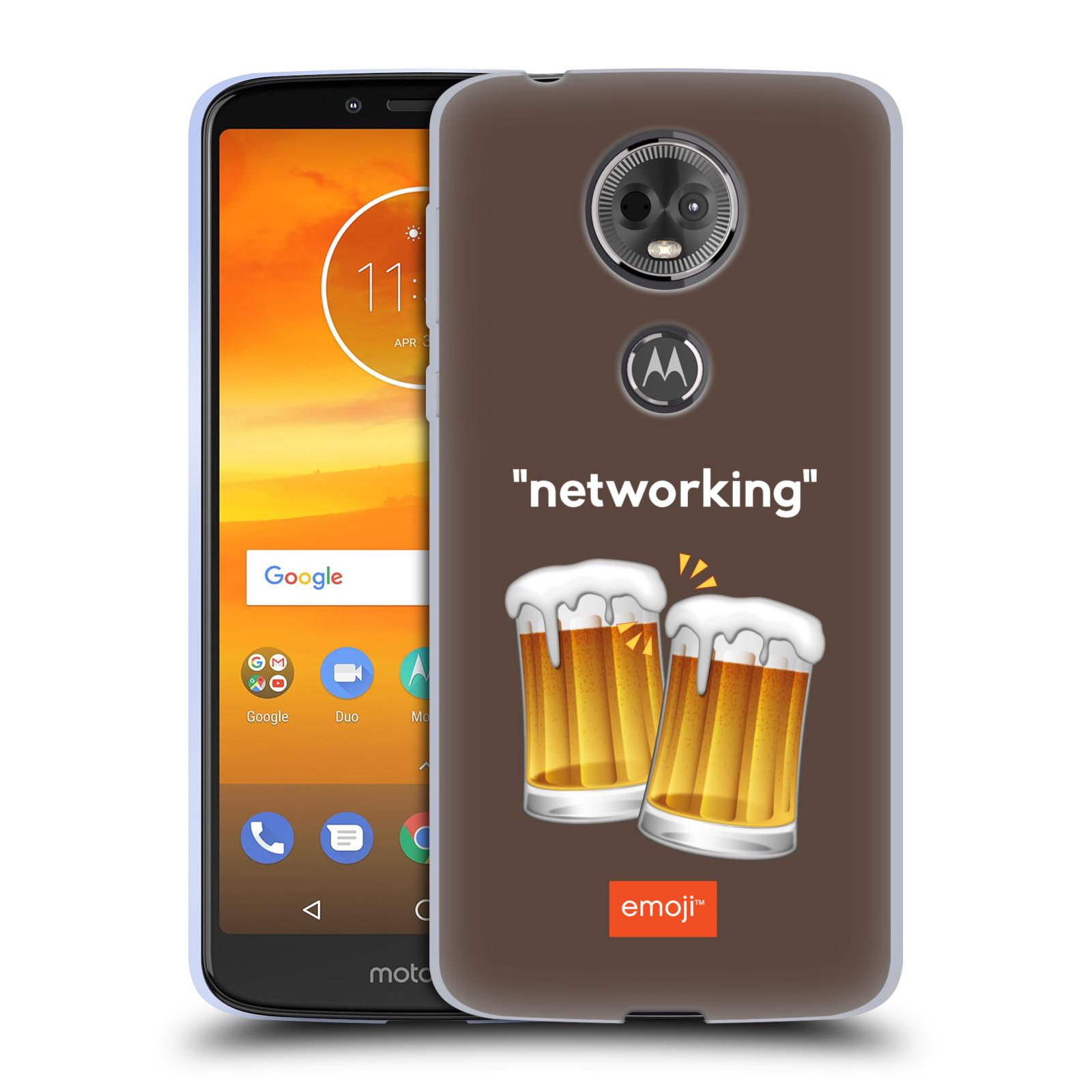 Silikonové pouzdro na mobil Motorola Moto E5 Plus - Head Case - EMOJI - Pivní networking