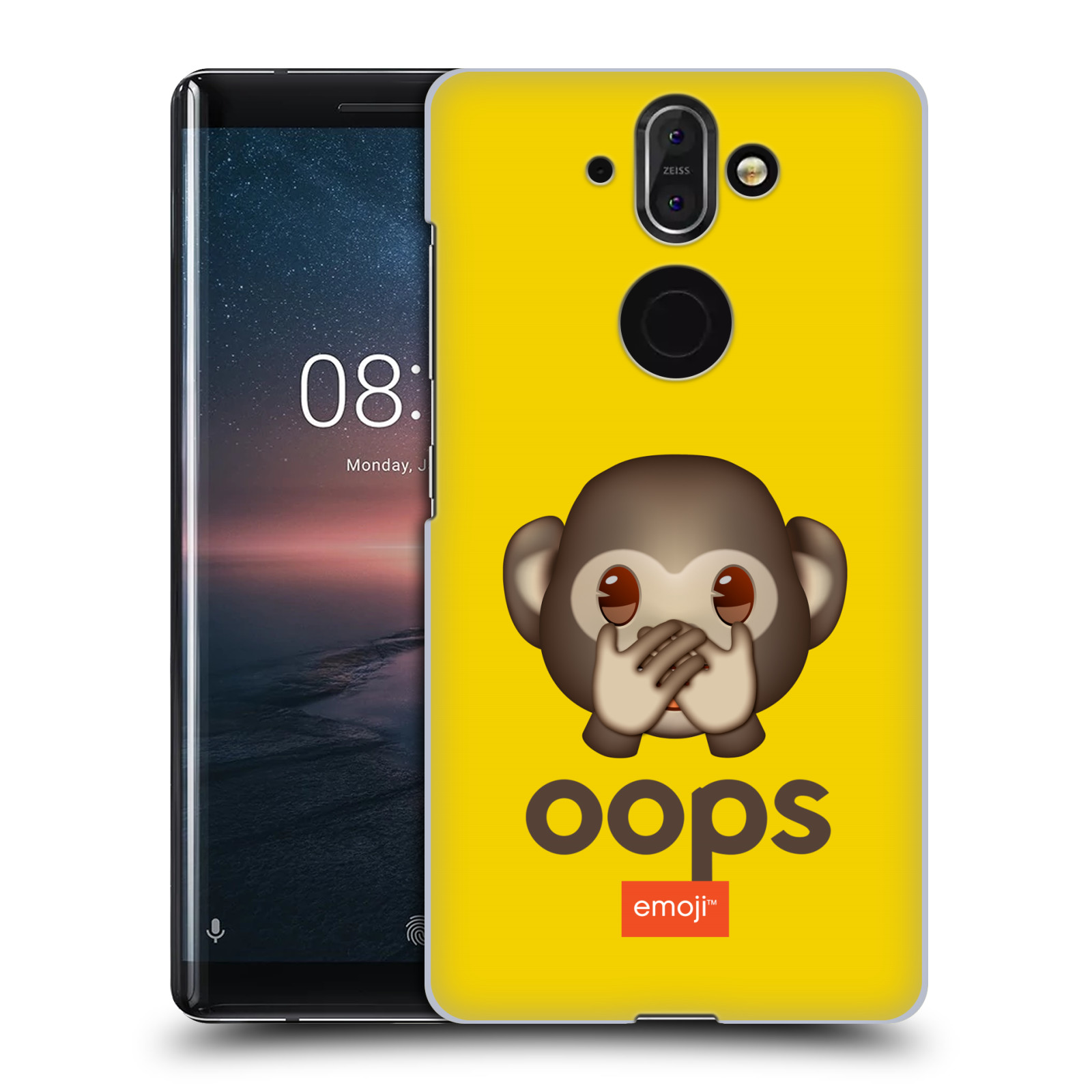 Plastové pouzdro na mobil Nokia 8 Sirocco - Head Case - EMOJI - Opička OOPS