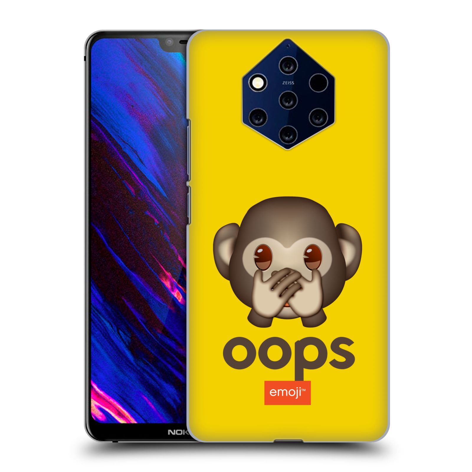 Plastové pouzdro na mobil Nokia 9 PureView - Head Case - EMOJI - Opička OOPS