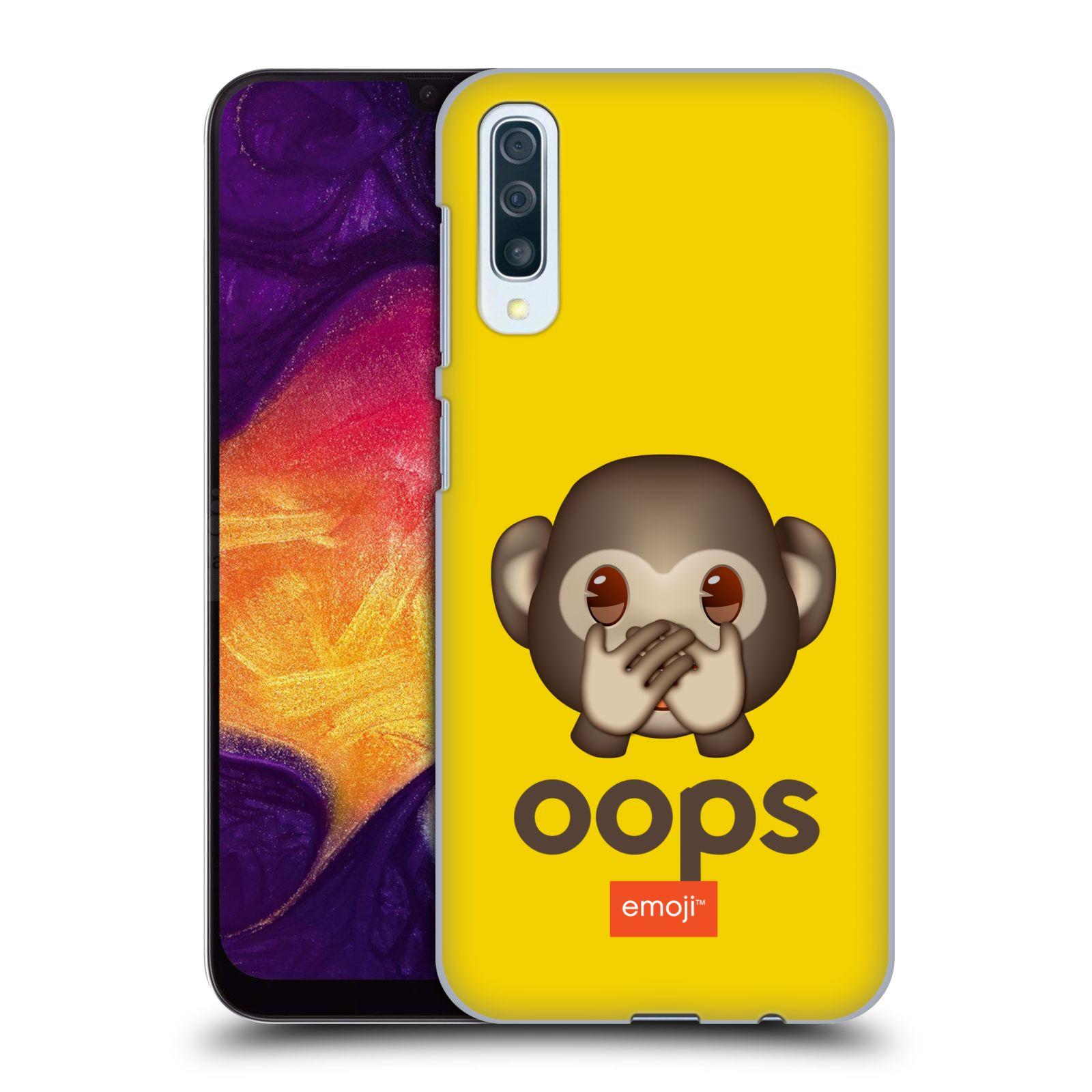 Plastové pouzdro na mobil Samsung Galaxy A50 / A30s - Head Case - EMOJI - Opička OOPS
