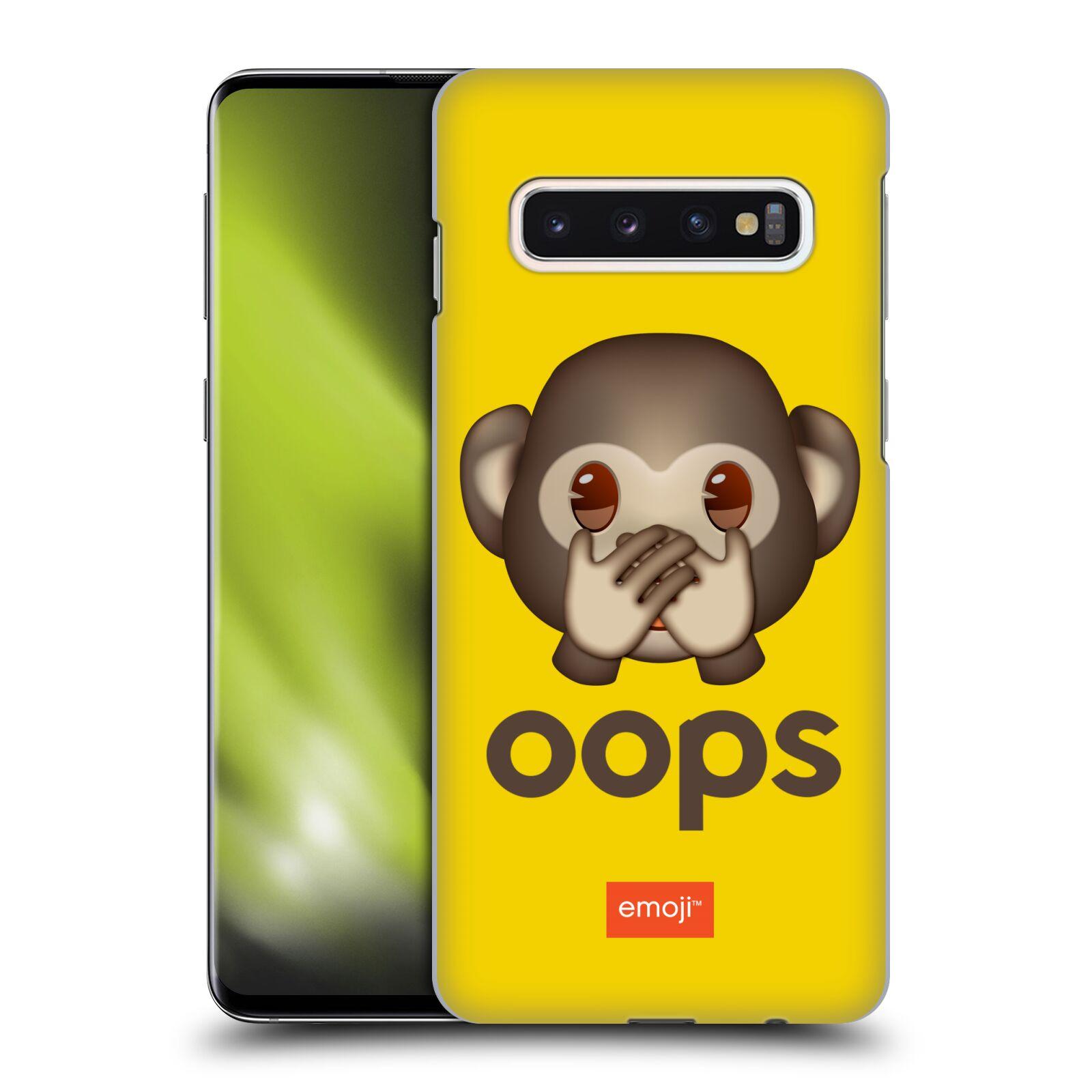 Plastové pouzdro na mobil Samsung Galaxy S10 - Head Case - EMOJI - Opička OOPS