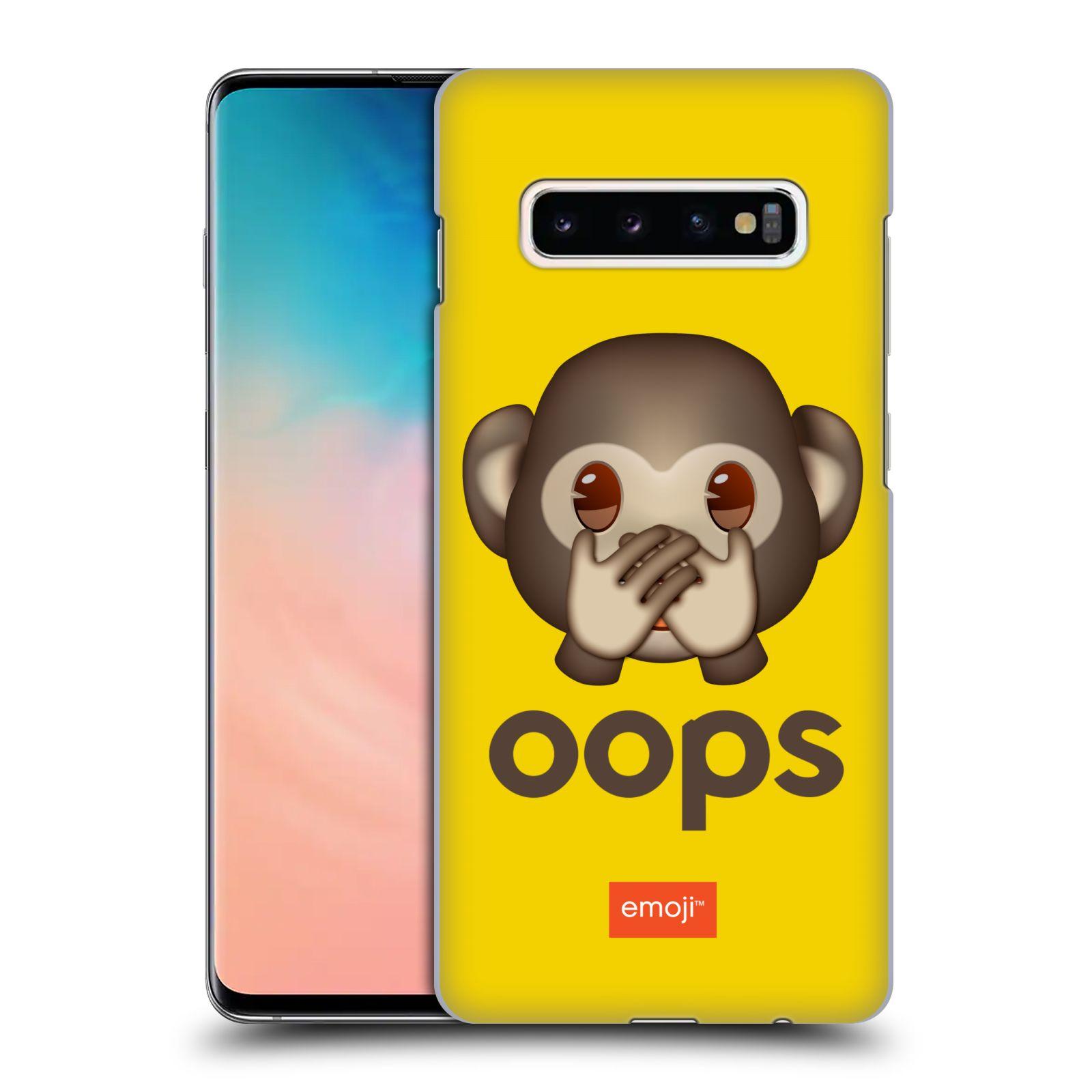 Plastové pouzdro na mobil Samsung Galaxy S10 Plus - Head Case - EMOJI - Opička OOPS
