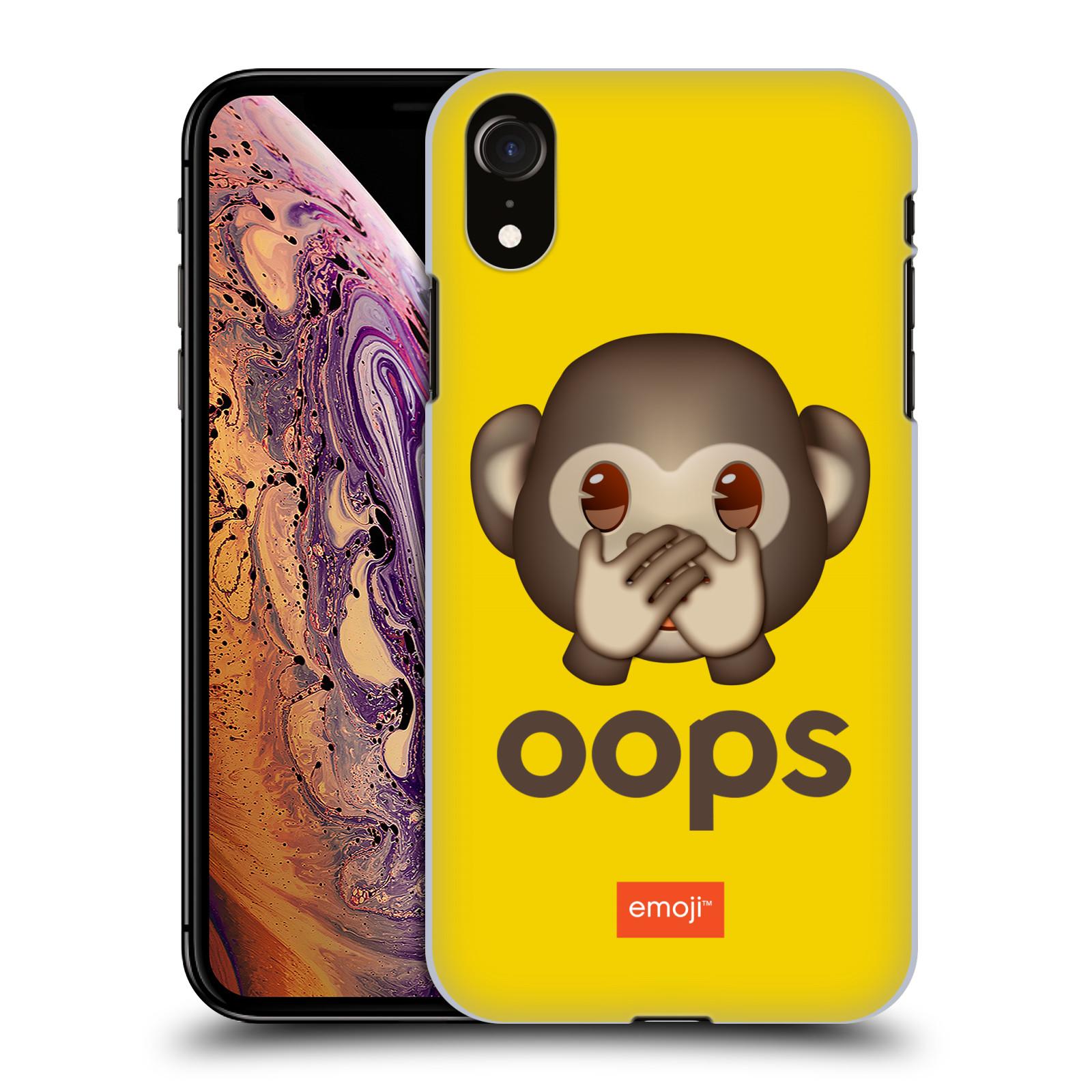 Plastové pouzdro na mobil Apple iPhone XR - Head Case - EMOJI - Opička OOPS