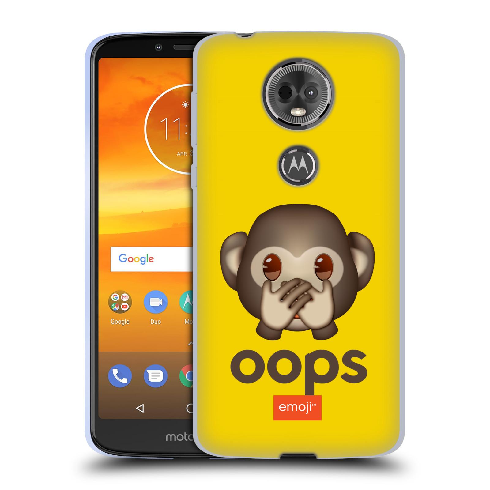 Silikonové pouzdro na mobil Motorola Moto E5 Plus - Head Case - EMOJI - Opička OOPS