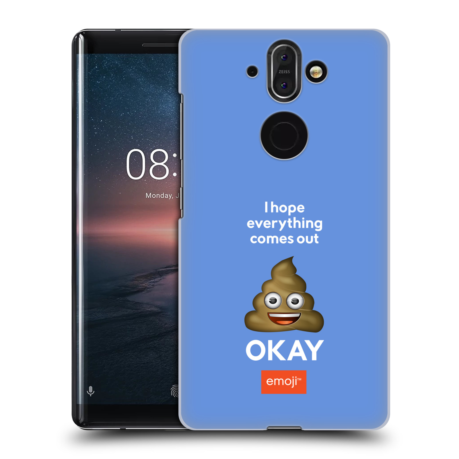 Plastové pouzdro na mobil Nokia 8 Sirocco - Head Case - EMOJI - Hovínko OKAY