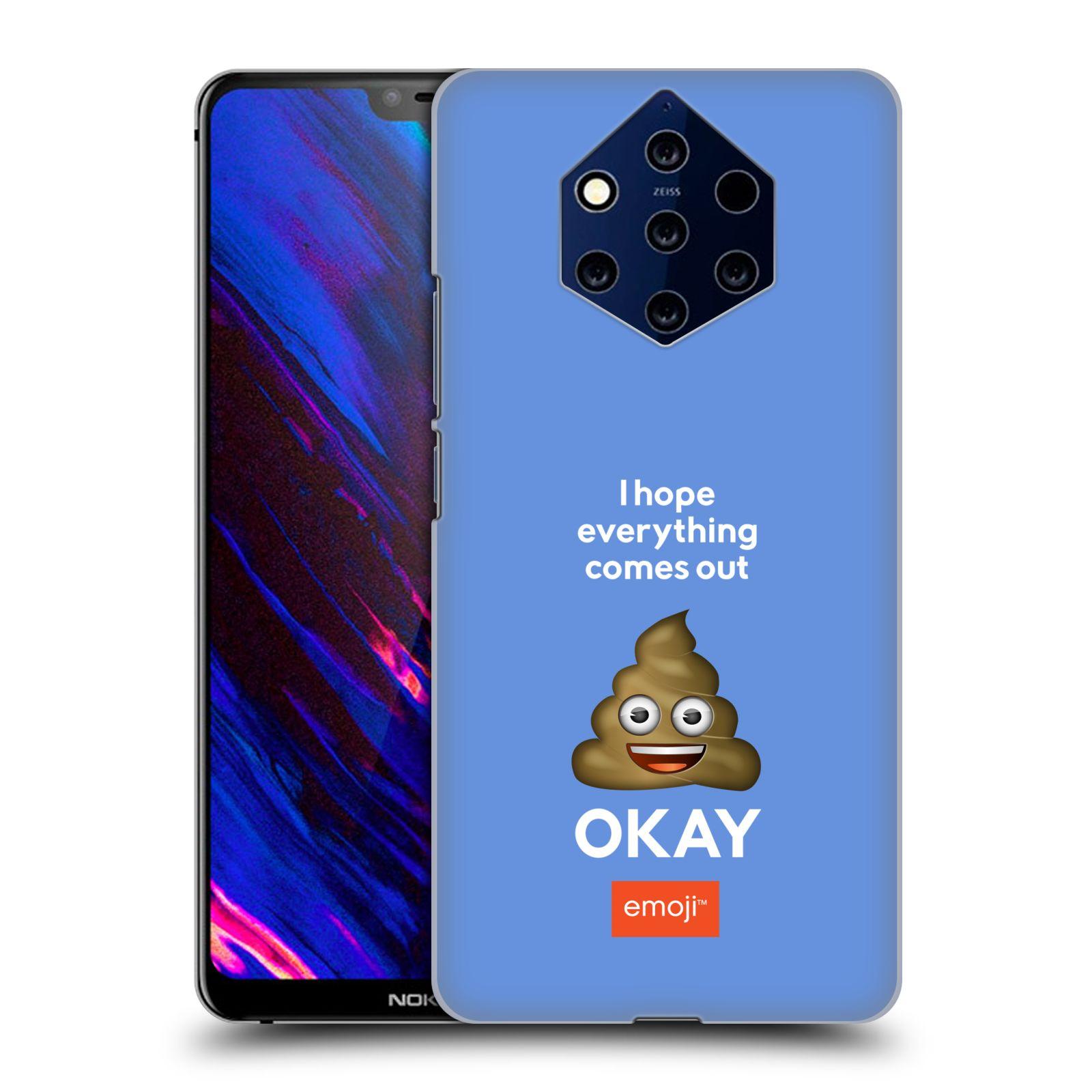 Plastové pouzdro na mobil Nokia 9 PureView - Head Case - EMOJI - Hovínko OKAY