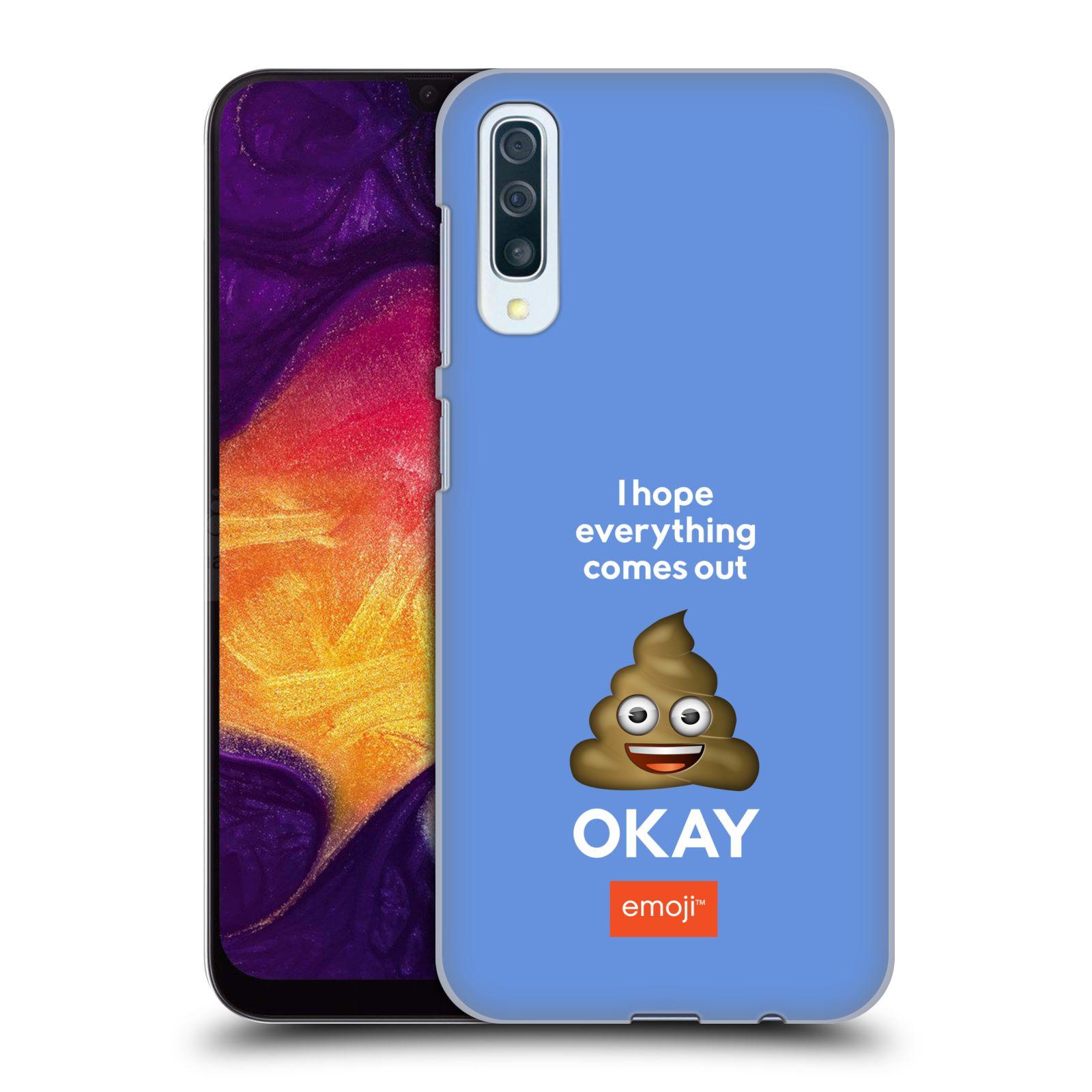 Plastové pouzdro na mobil Samsung Galaxy A50 / A30s - Head Case - EMOJI - Hovínko OKAY