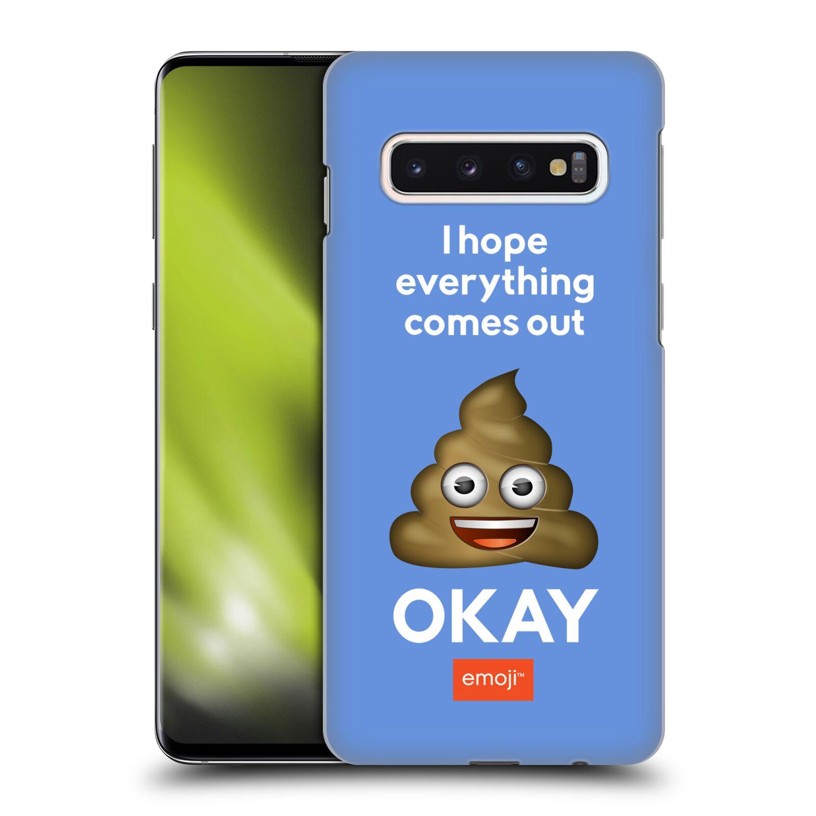 Plastové pouzdro na mobil Samsung Galaxy S10 - Head Case - EMOJI - Hovínko OKAY