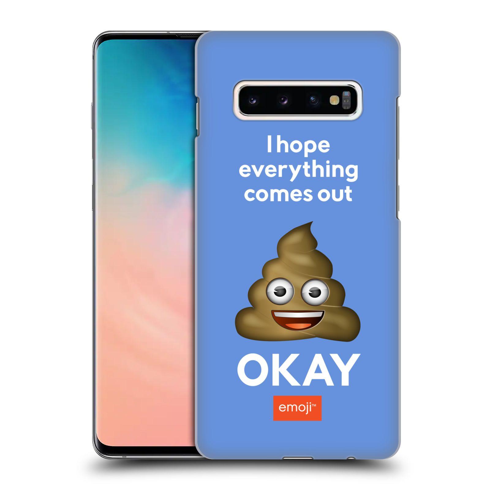Plastové pouzdro na mobil Samsung Galaxy S10 Plus - Head Case - EMOJI - Hovínko OKAY