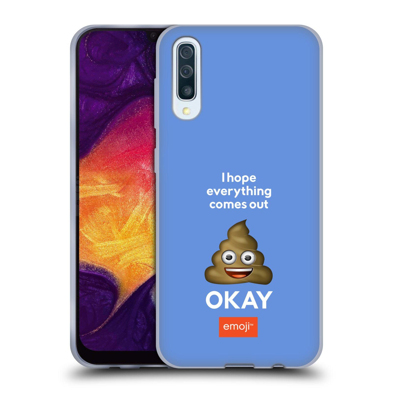 Silikonové pouzdro na mobil Samsung Galaxy A50 / A30s - Head Case - EMOJI - Hovínko OKAY