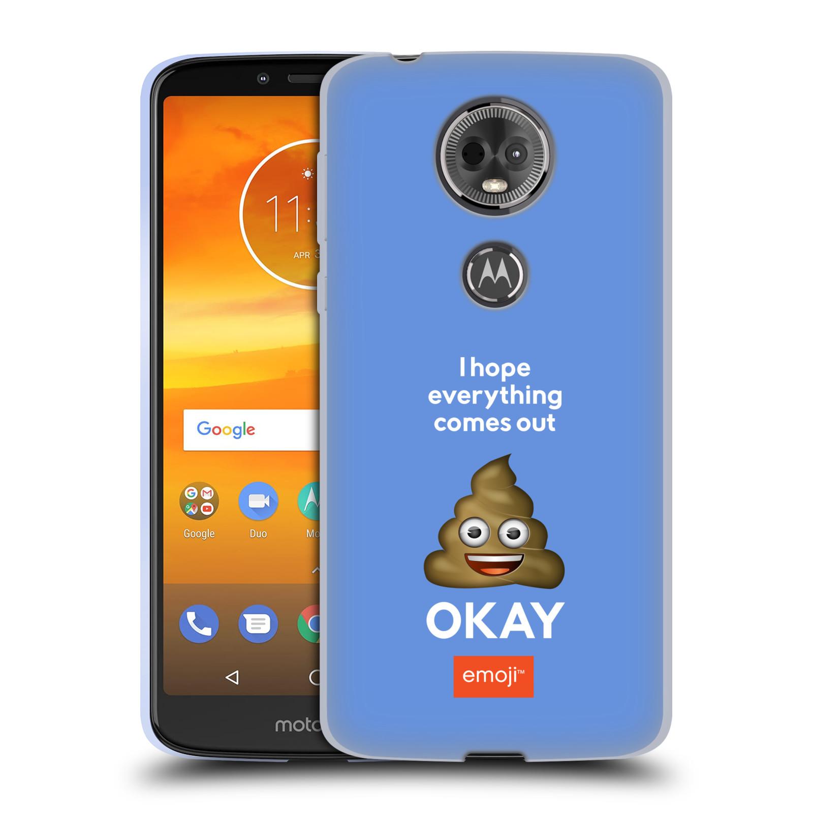 Silikonové pouzdro na mobil Motorola Moto E5 Plus - Head Case - EMOJI - Hovínko OKAY