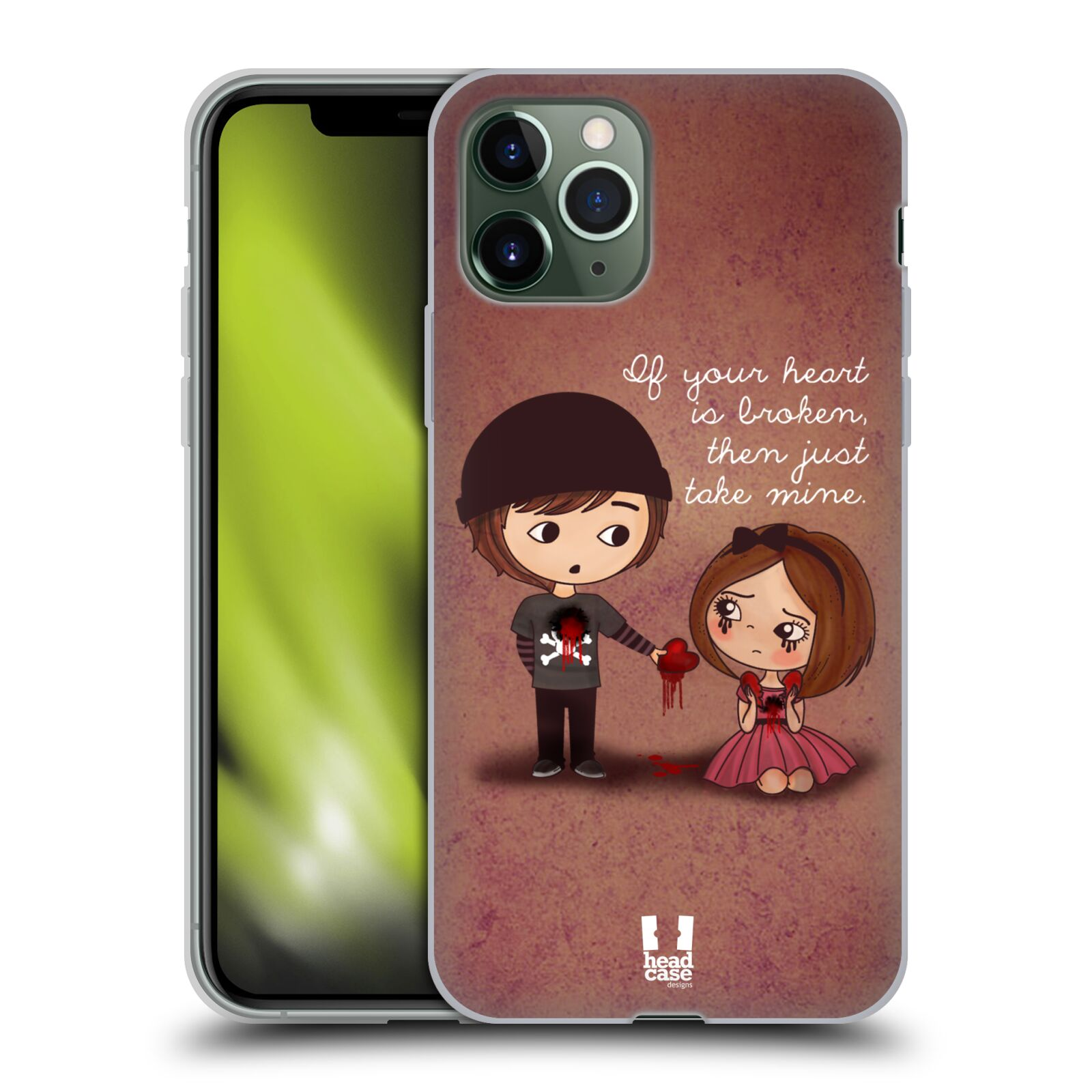 iphone 7 tenky obal , Silikonové pouzdro na mobil Apple iPhone 11 Pro - Head Case - Emo Love Srdce