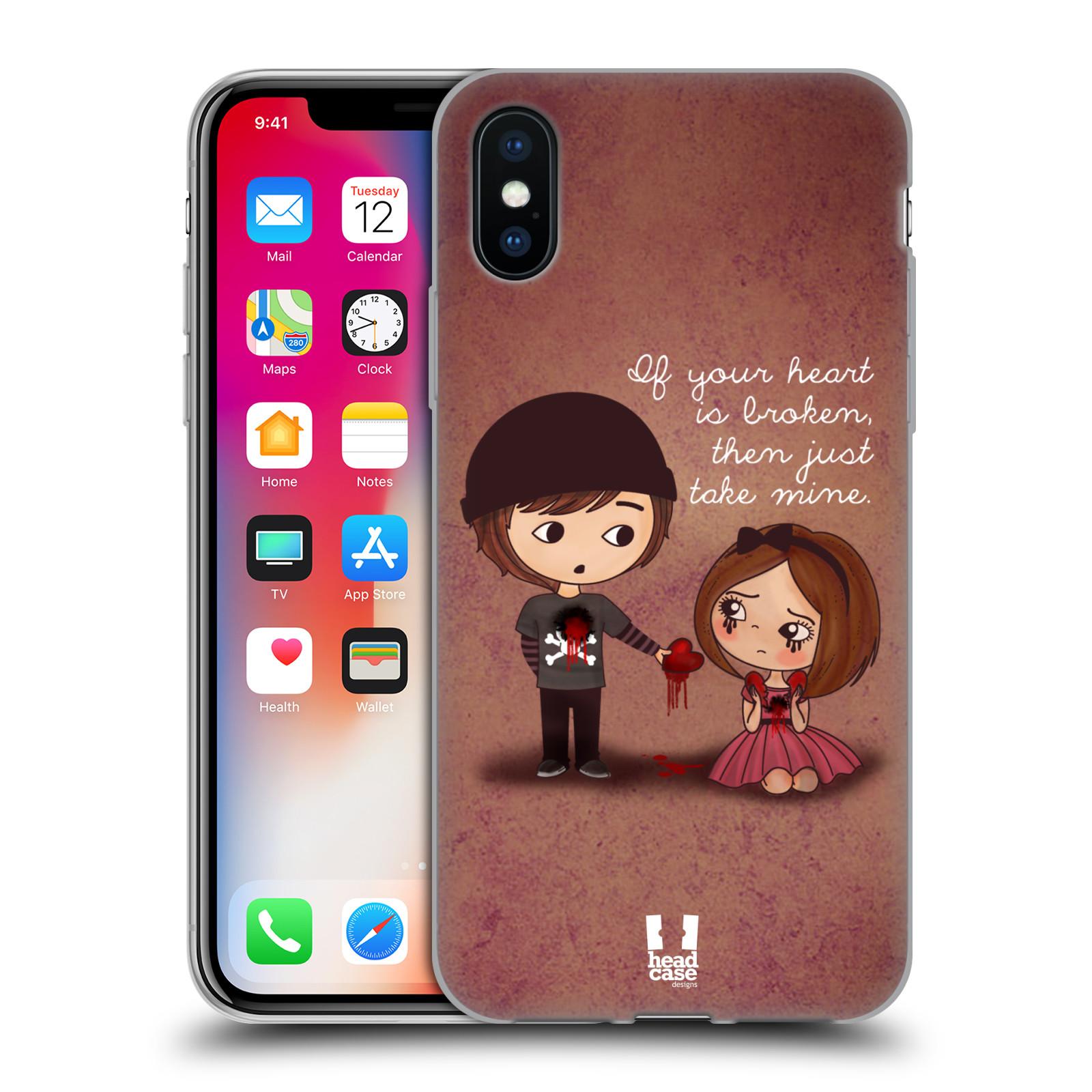 Silikonové pouzdro na mobil Apple iPhone XS - Head Case - Emo Love Srdce