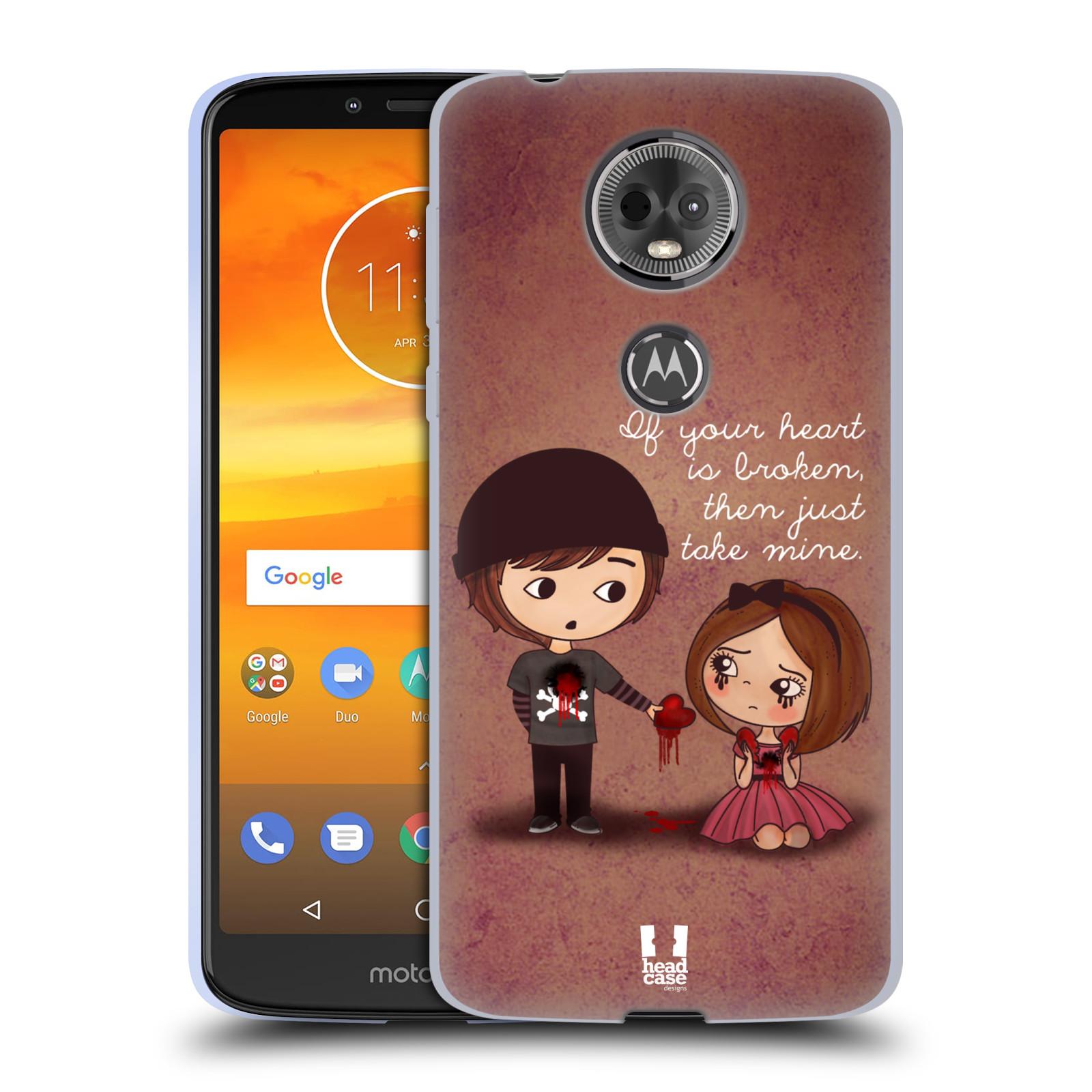 Silikonové pouzdro na mobil Motorola Moto E5 Plus - Head Case - Emo Love Srdce