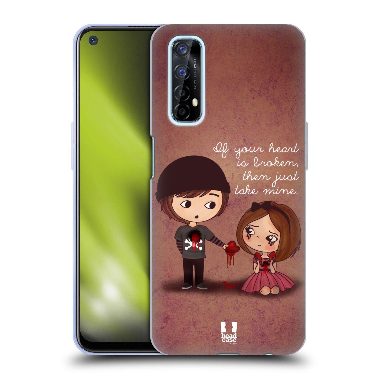 Silikonové pouzdro na mobil Realme 7 - Head Case - Emo Love Srdce