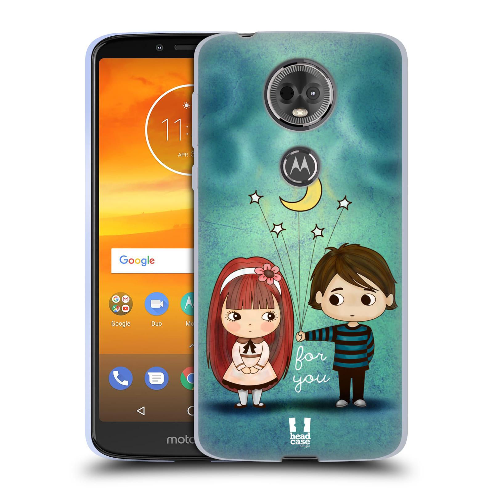 Silikonové pouzdro na mobil Motorola Moto E5 Plus - Head Case - Emo Love při Měsíčku