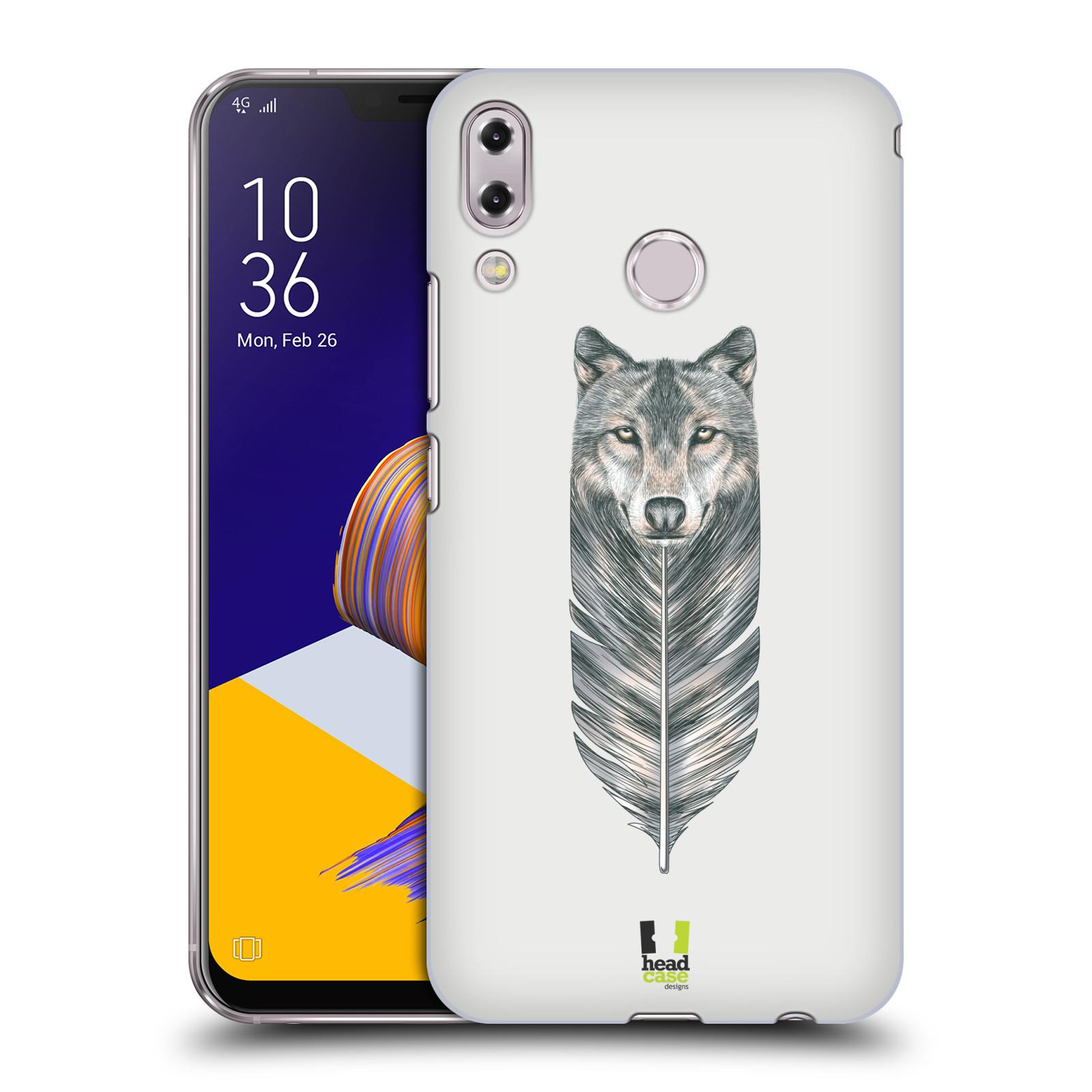Plastové pouzdro na mobil Asus Zenfone 5z ZS620KL - Head Case - PÍRKO VLK (Plastový kryt či obal na mobilní telefon Asus Zenfone 5z (ZS620KL) s motivem PÍRKO VLK)