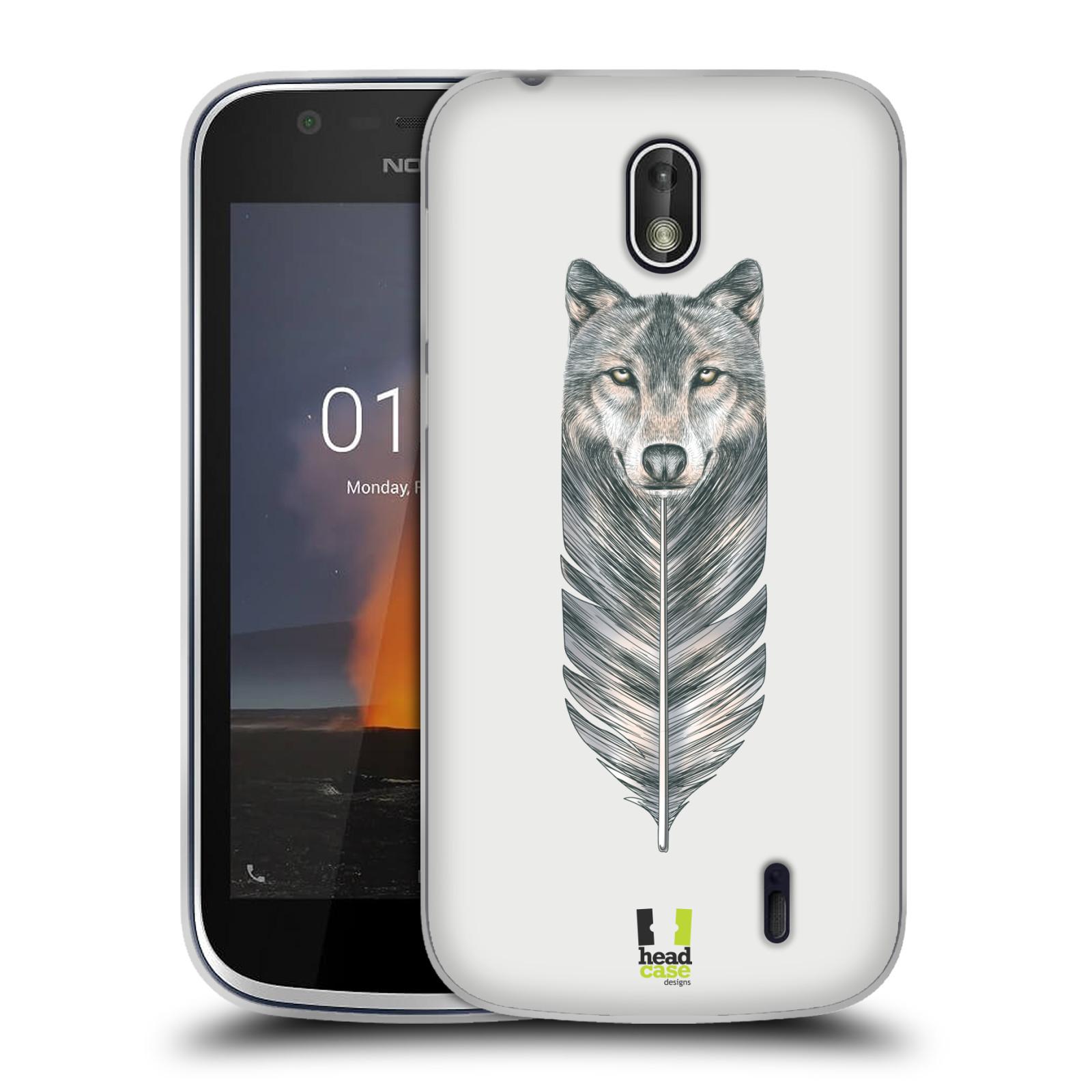Silikonové pouzdro na mobil Nokia 1 - Head Case - PÍRKO VLK (Silikonový kryt či obal na mobilní telefon Nokia 1 Dual SIM s motivem PÍRKO VLK)