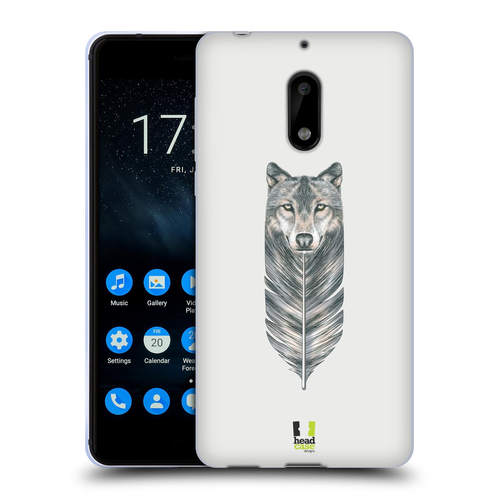 Silikonové pouzdro na mobil Nokia 6 - Head Case - PÍRKO VLK (Silikonový kryt či obal na mobilní telefon Nokia 6 s motivem PÍRKO VLK)