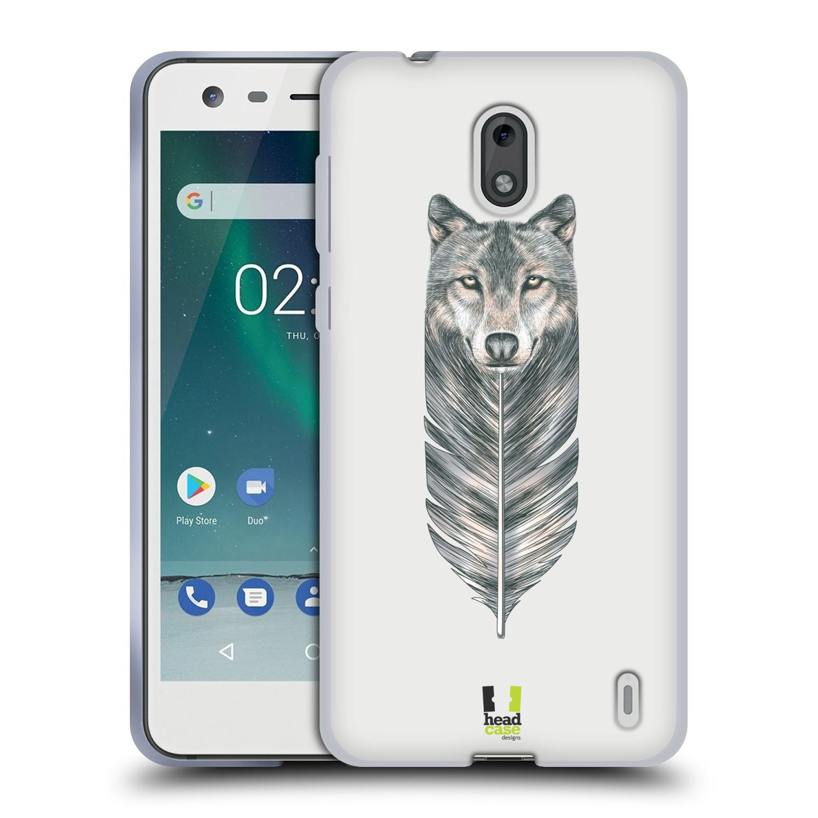 Silikonové pouzdro na mobil Nokia 2 - Head Case - PÍRKO VLK (Silikonový kryt či obal na mobilní telefon Nokia 2 s motivem PÍRKO VLK)