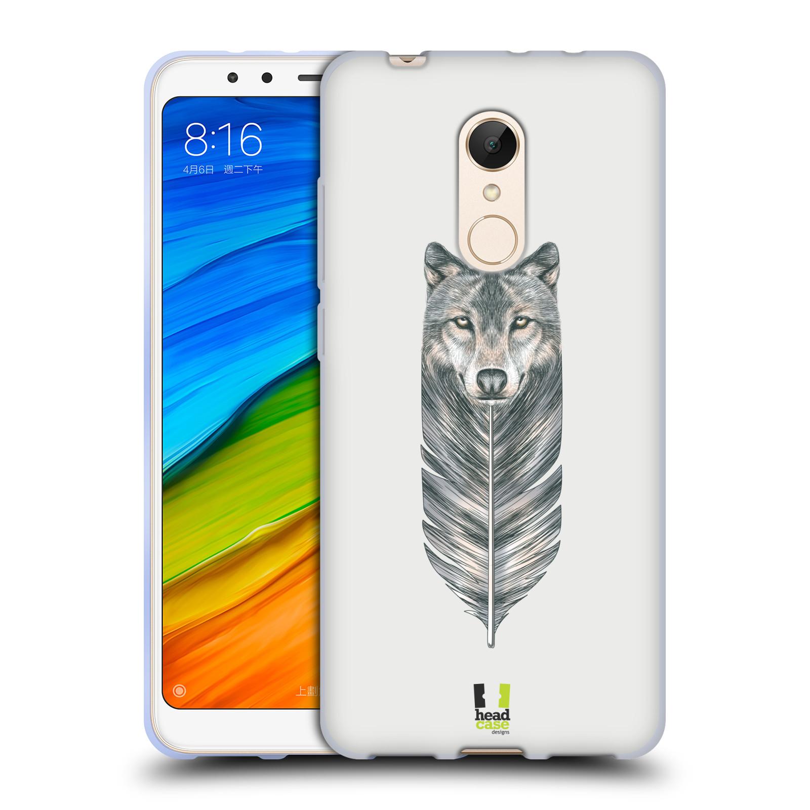 Silikonové pouzdro na mobil Xiaomi Redmi 5 - Head Case - PÍRKO VLK (Silikonový kryt či obal na mobilní telefon Xiaomi Redmi 5 s motivem PÍRKO VLK)