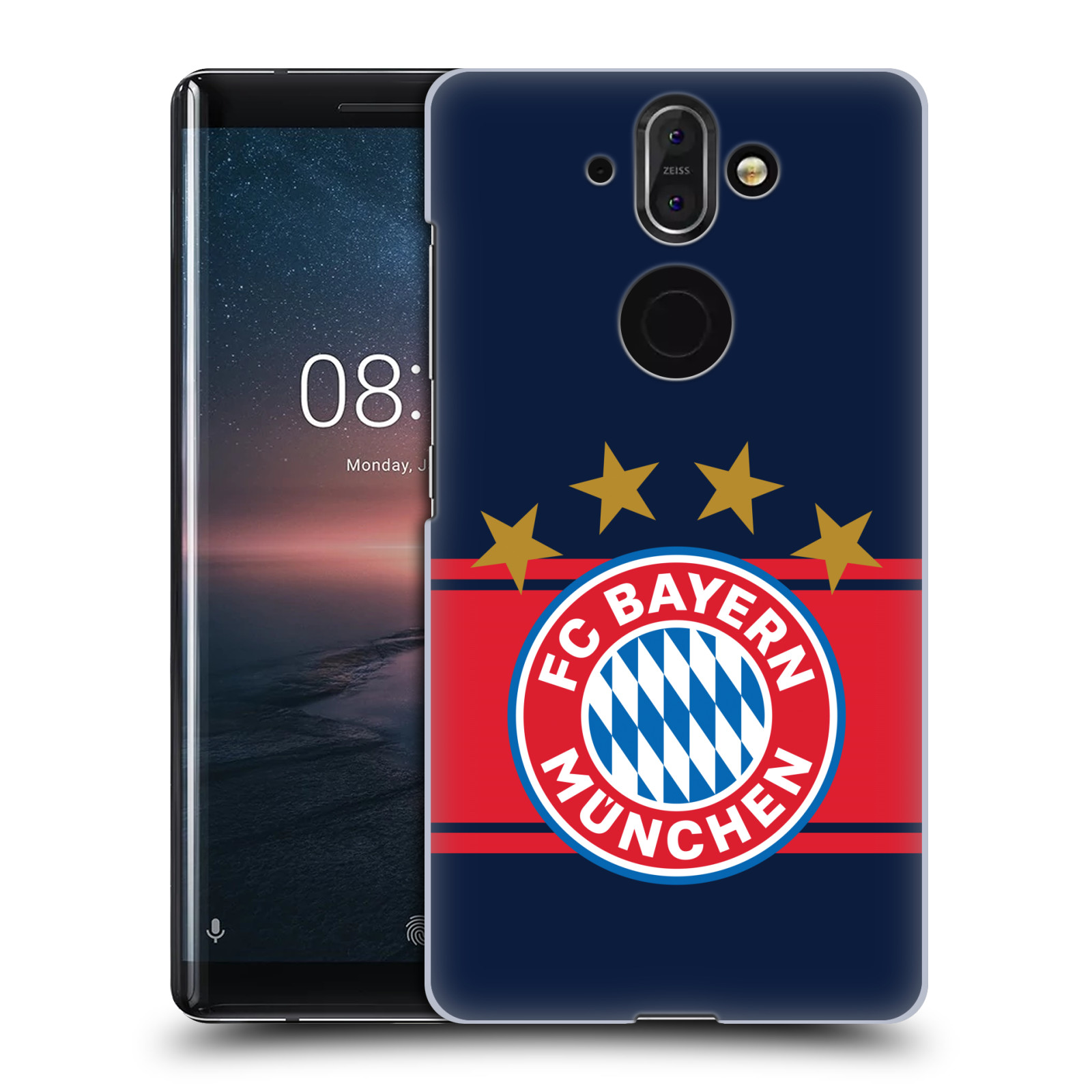 Plastové pouzdro na mobil Nokia 8 Sirocco - Head Case - FC Bayern Mnichov - Venkovní dres