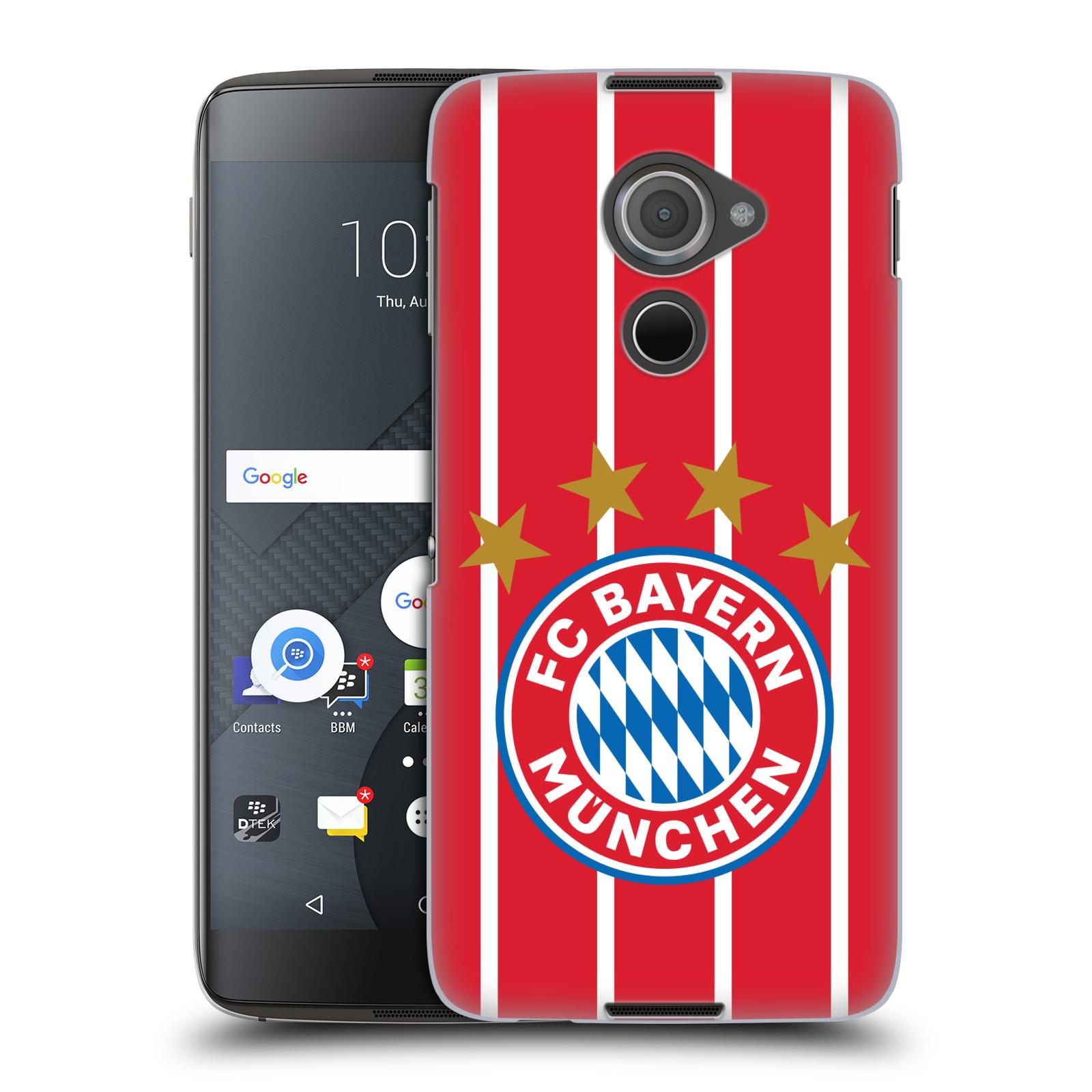 Plastové pouzdro na mobil Blackberry DTEK60 (Argon) - Head Case - FC Bayern Mnichov - Domácí dres