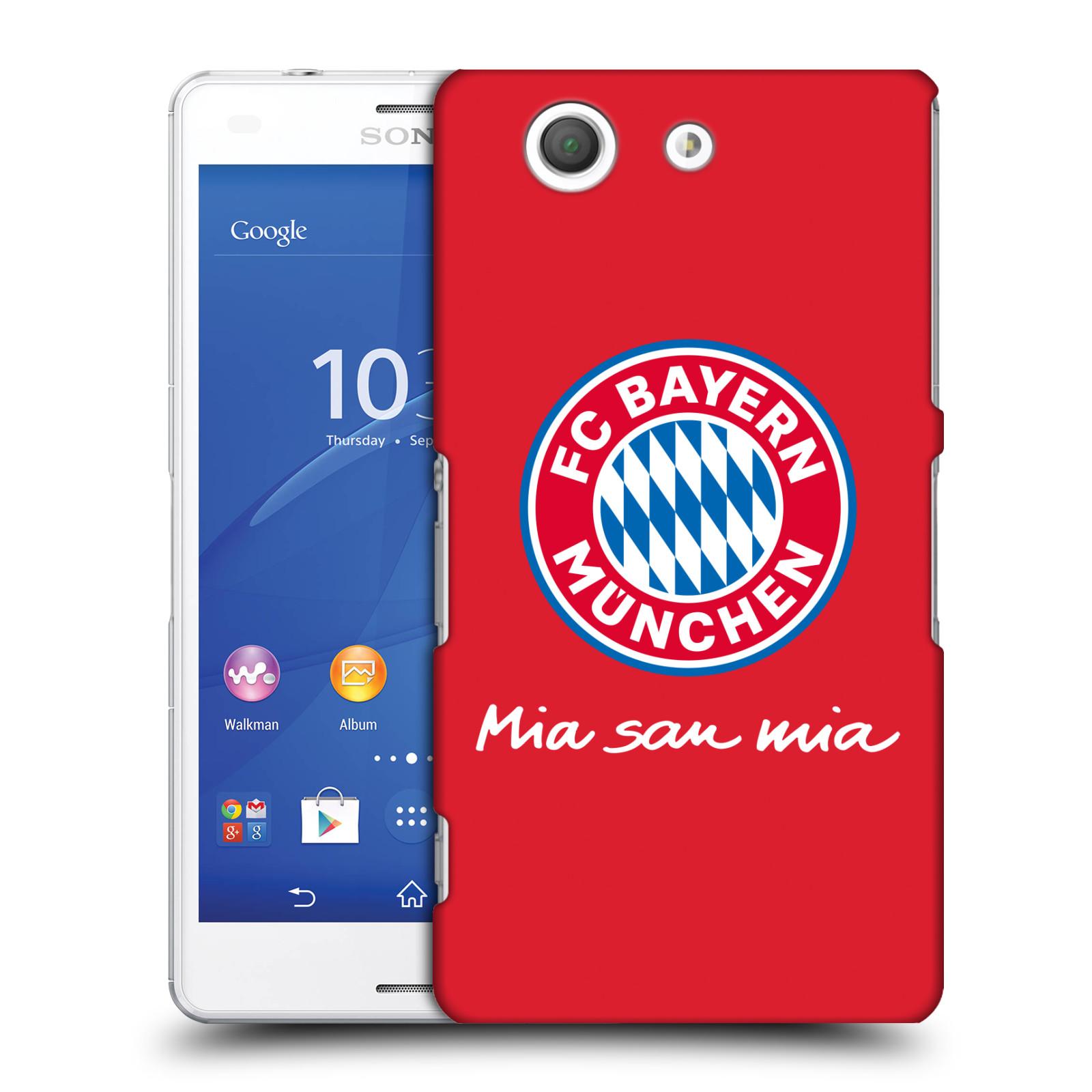Plastové pouzdro na mobil Sony Xperia Z3 Compact D5803 - Head Case - FC Bayern Mnichov - Mia san mia