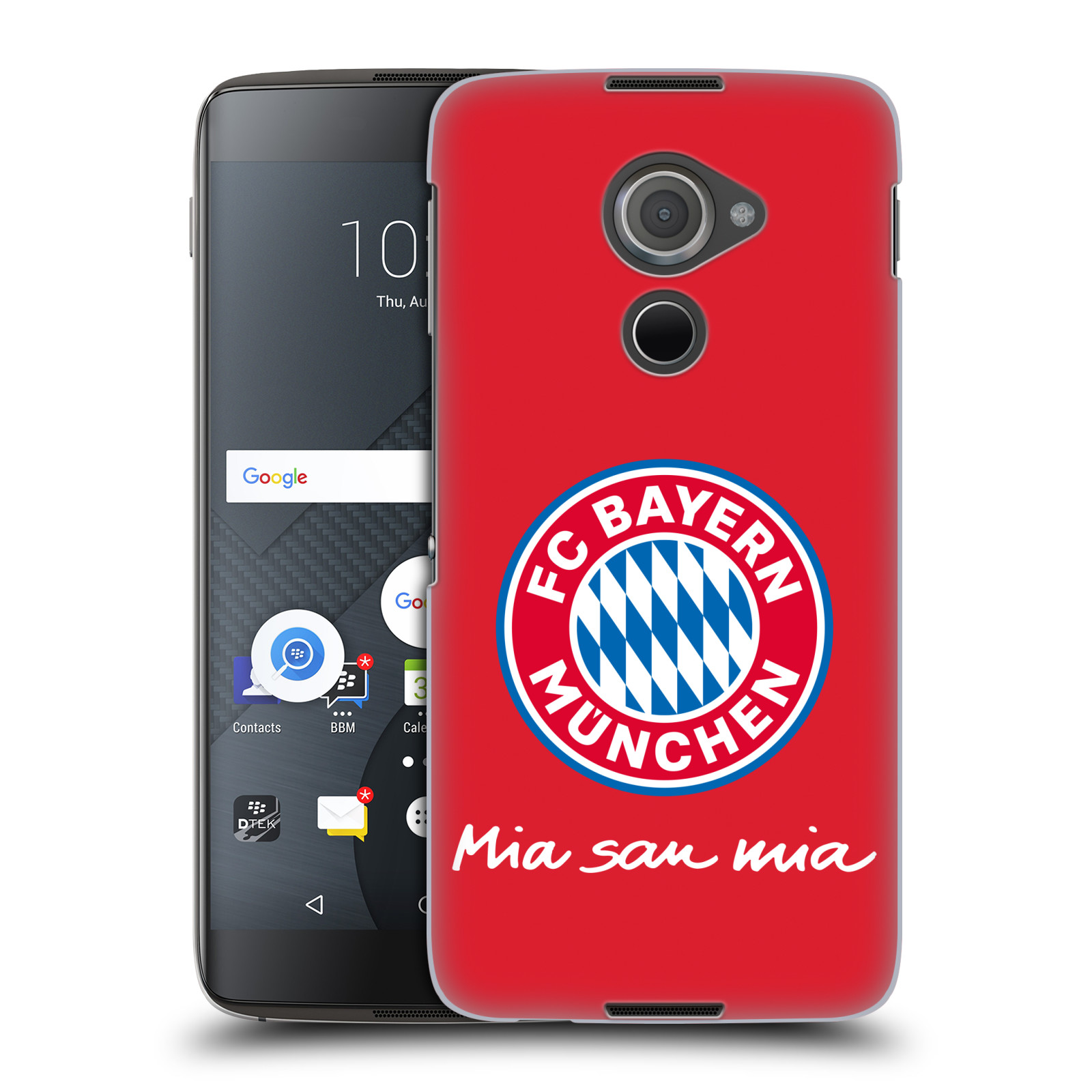 Plastové pouzdro na mobil Blackberry DTEK60 (Argon) - Head Case - FC Bayern Mnichov - Mia san mia