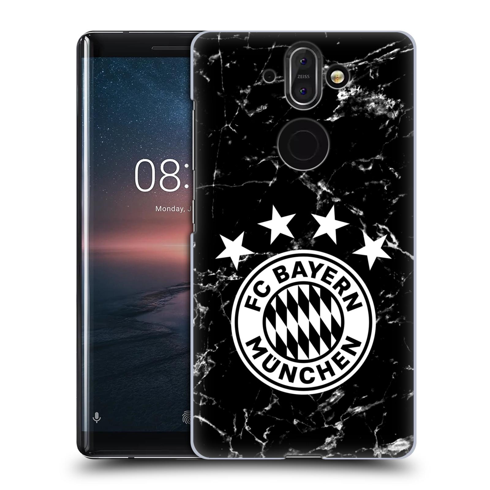 Plastové pouzdro na mobil Nokia 8 Sirocco - Head Case - FC Bayern Mnichov - Logo mramor