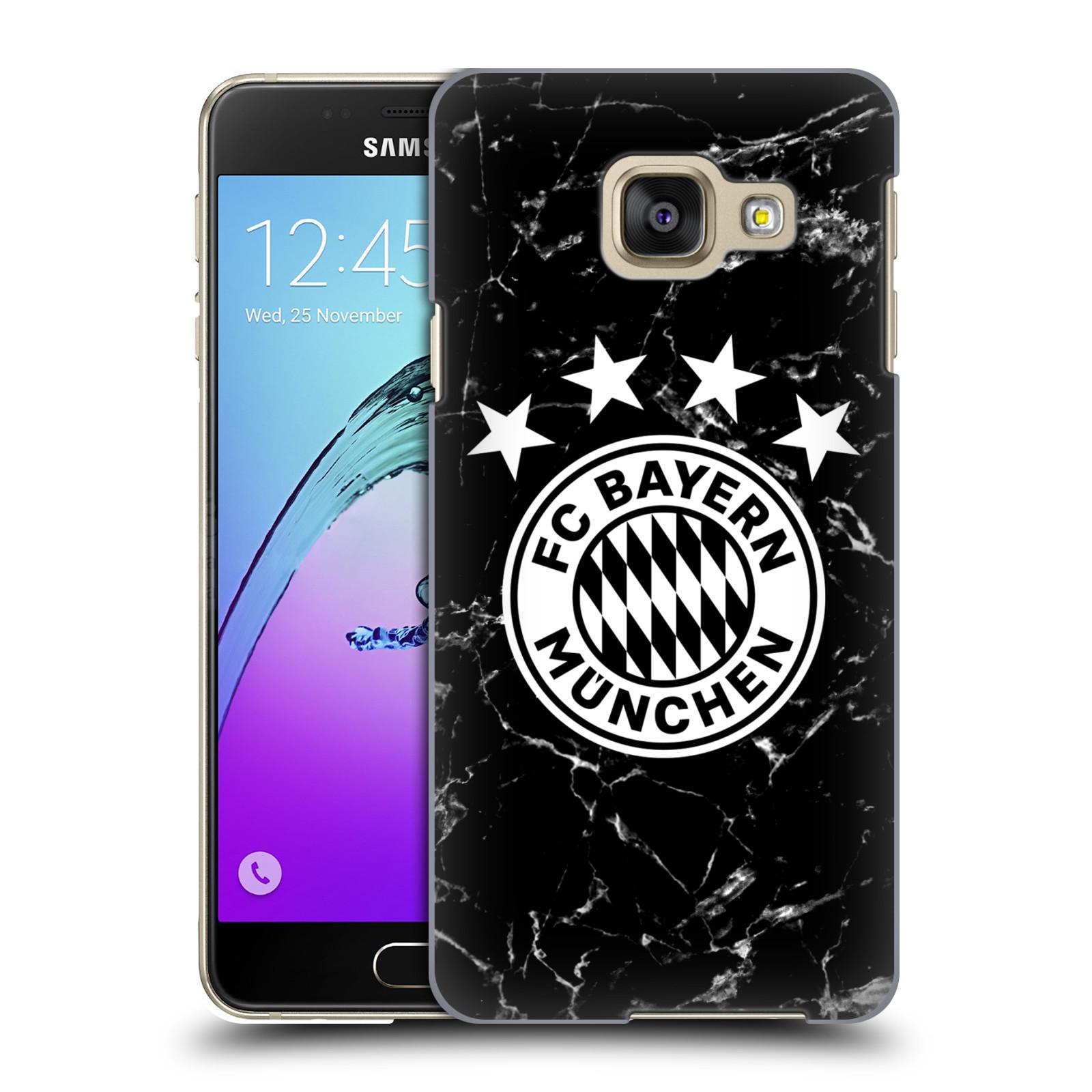 Plastové pouzdro na mobil Samsung Galaxy A3 (2016) - Head Case - FC Bayern Mnichov - Logo mramor