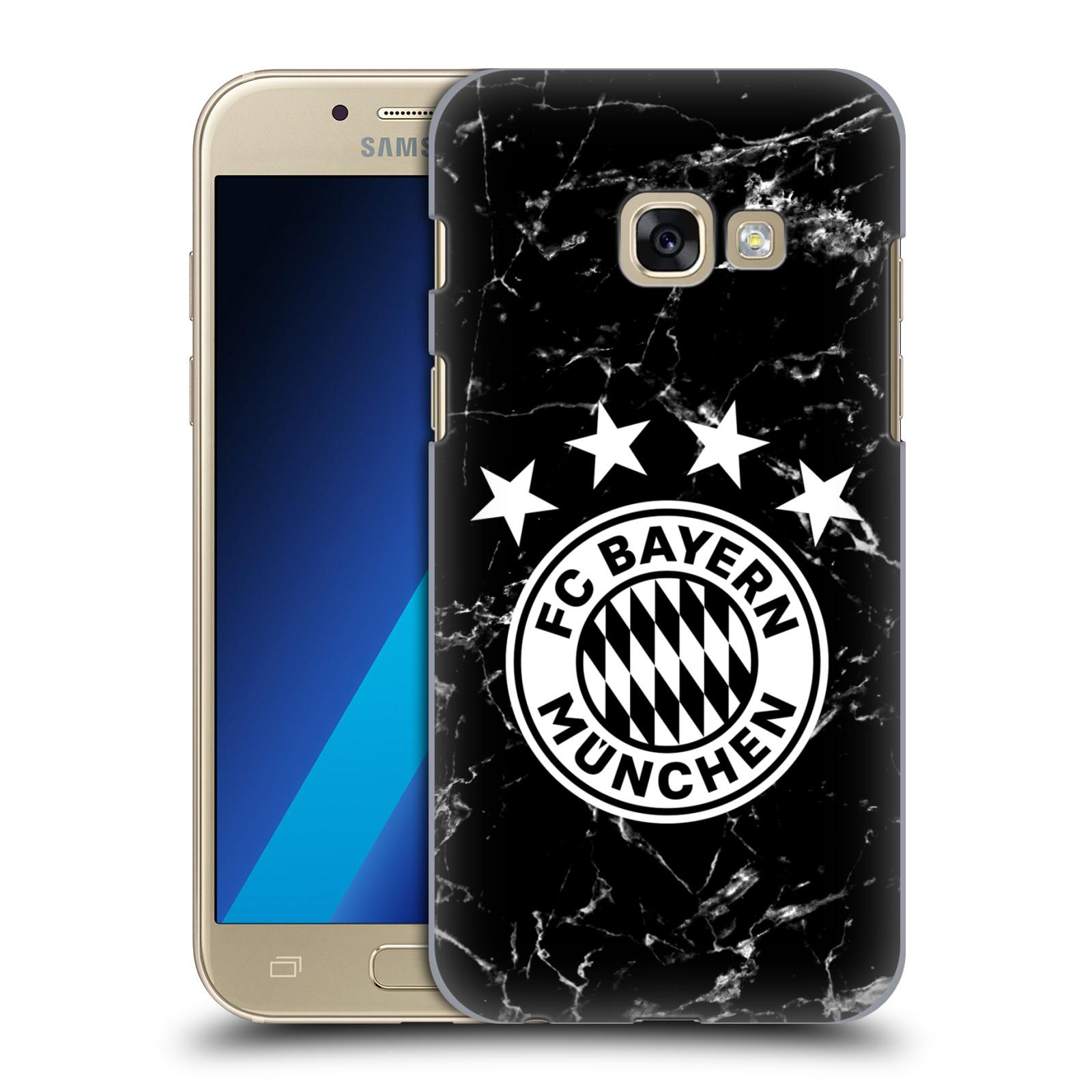 Plastové pouzdro na mobil Samsung Galaxy A3 (2017) - Head Case - FC Bayern Mnichov - Logo mramor