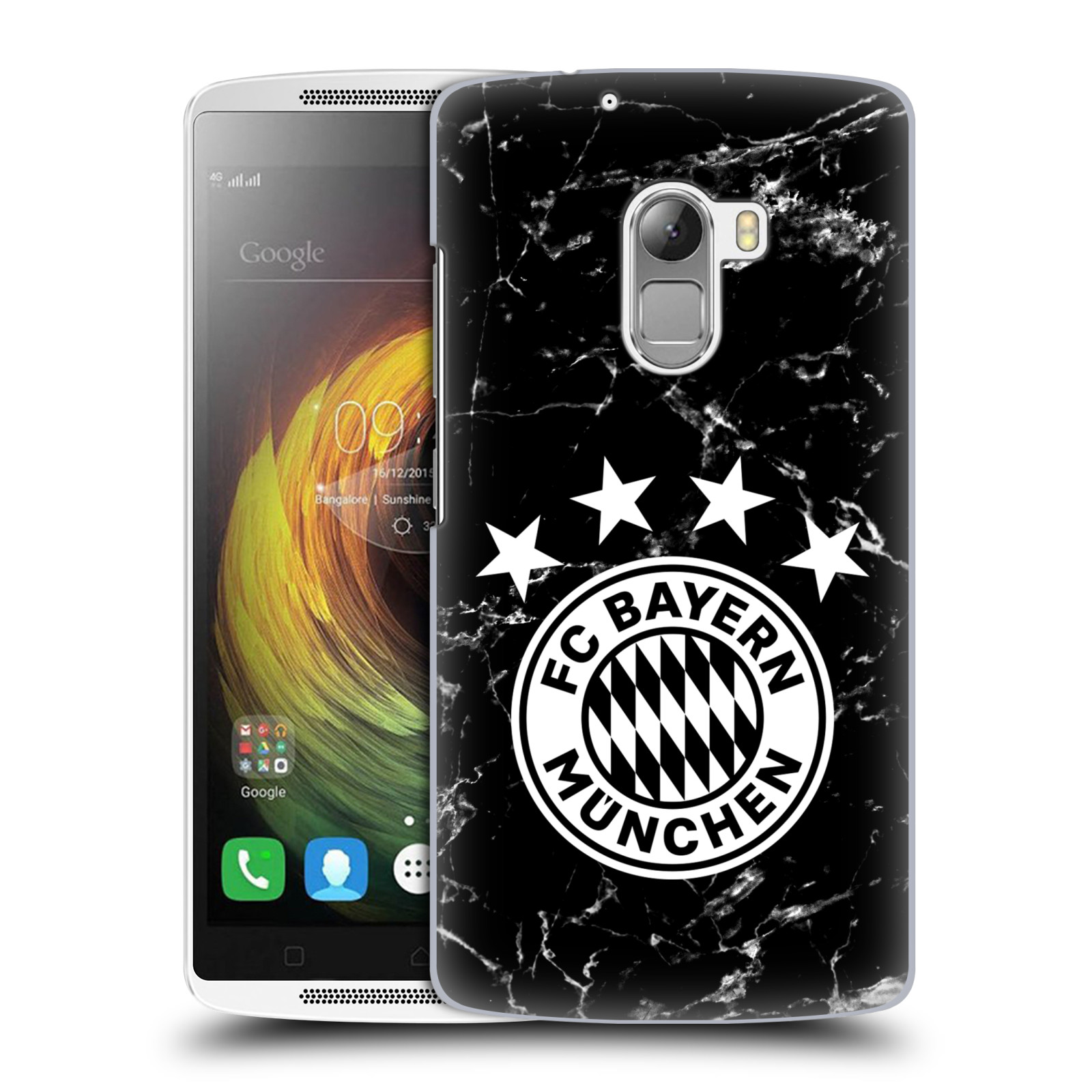 Plastové pouzdro na mobil Lenovo A7010 - Head Case - FC Bayern Mnichov - Logo mramor