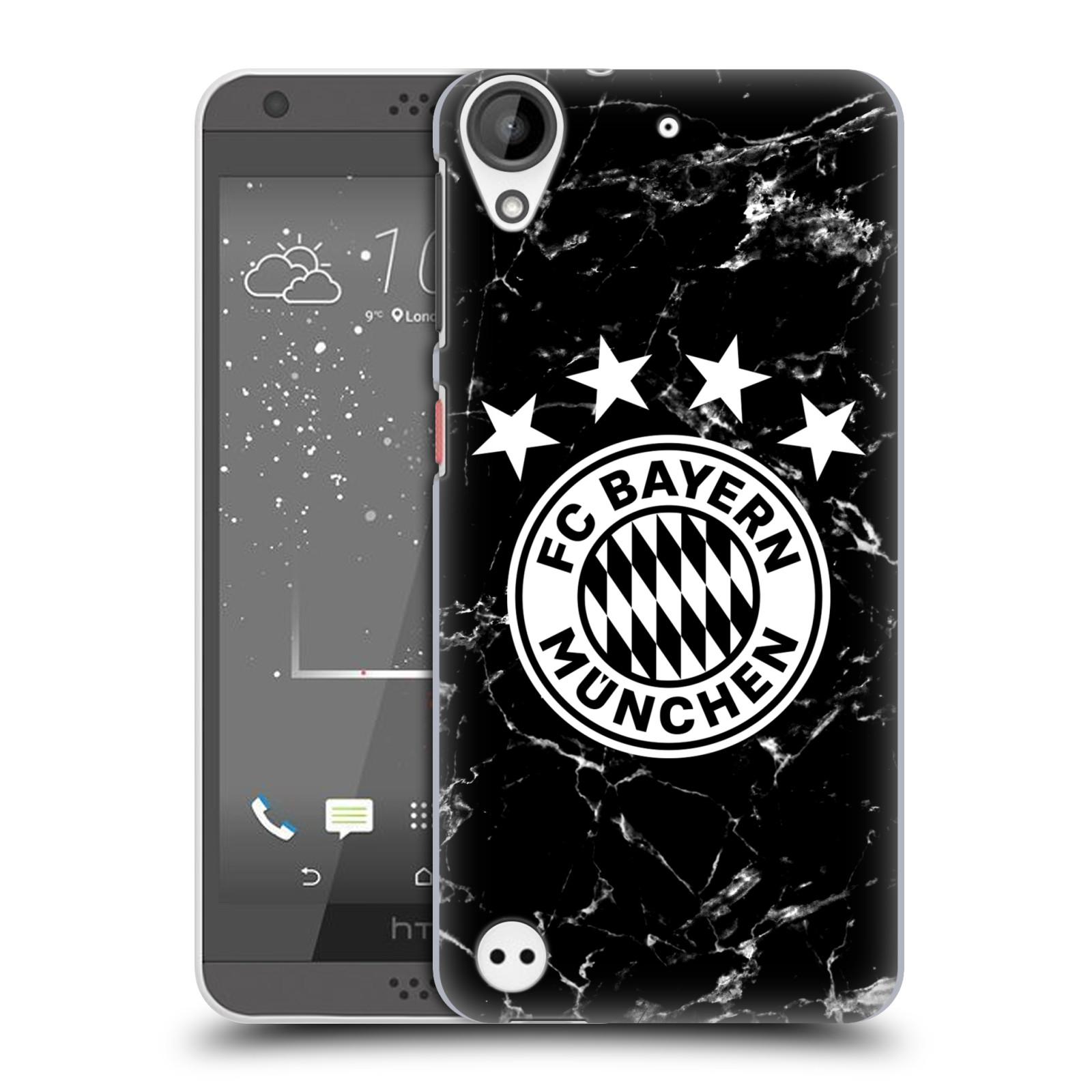 Plastové pouzdro na mobil HTC Desire 530 - Head Case - FC Bayern Mnichov - Logo mramor