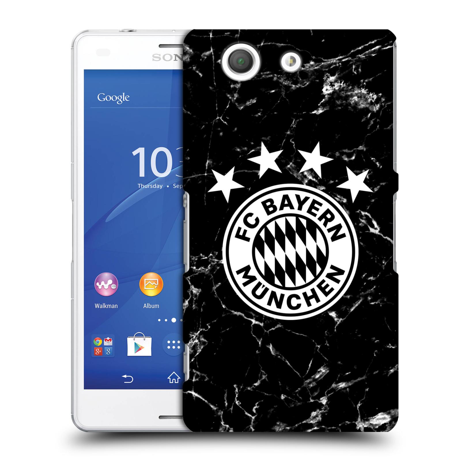 Plastové pouzdro na mobil Sony Xperia Z3 Compact D5803 - Head Case - FC Bayern Mnichov - Logo mramor