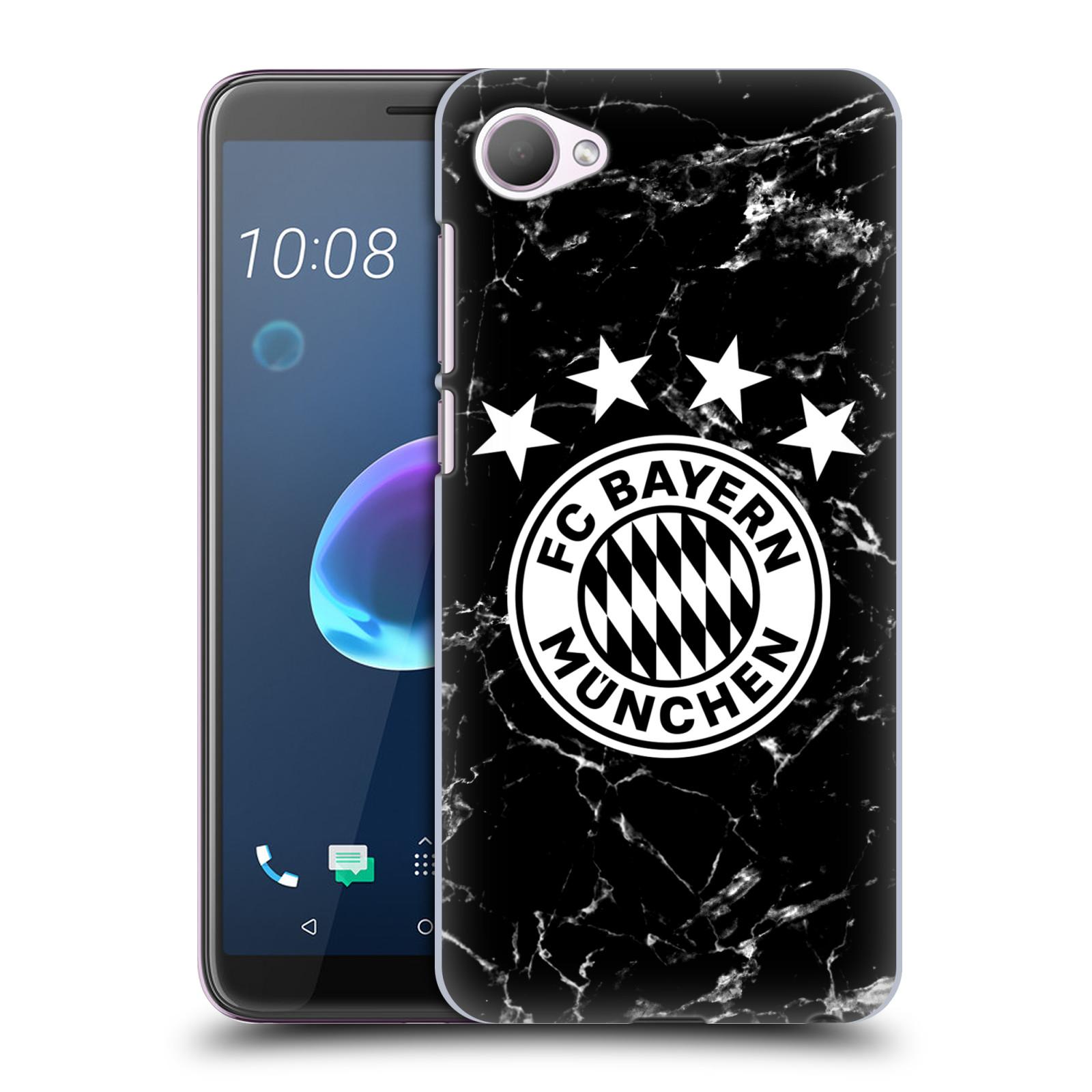 Plastové pouzdro na mobil HTC Desire 12 - Head Case - FC Bayern Mnichov - Logo mramor