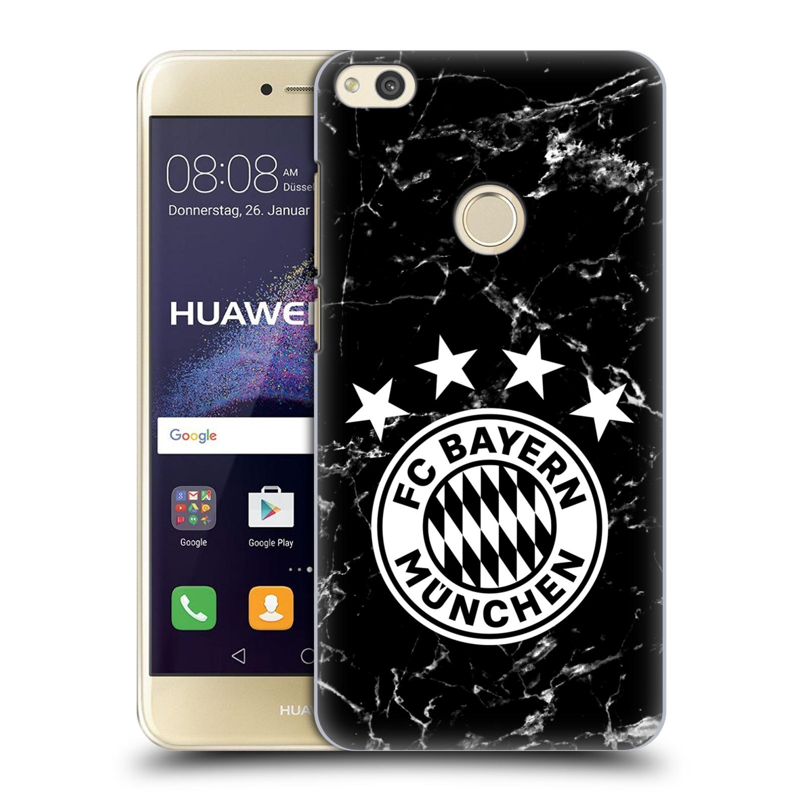 Plastové pouzdro na mobil Huawei P9 Lite (2017) - Head Case - FC Bayern Mnichov - Logo mramor