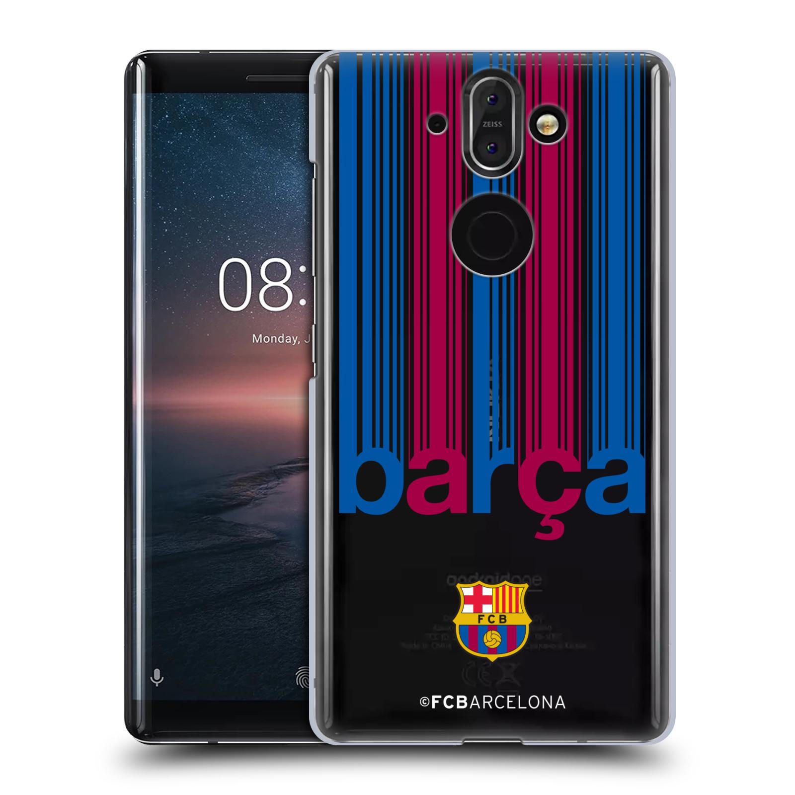 Plastové pouzdro na mobil Nokia 8 Sirocco - Head Case - FC Barcelona - Barca - čiré